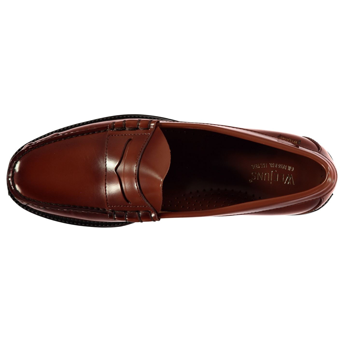 Mens Bass Weejuns Larson Penny Loafers Slip On Textured ...