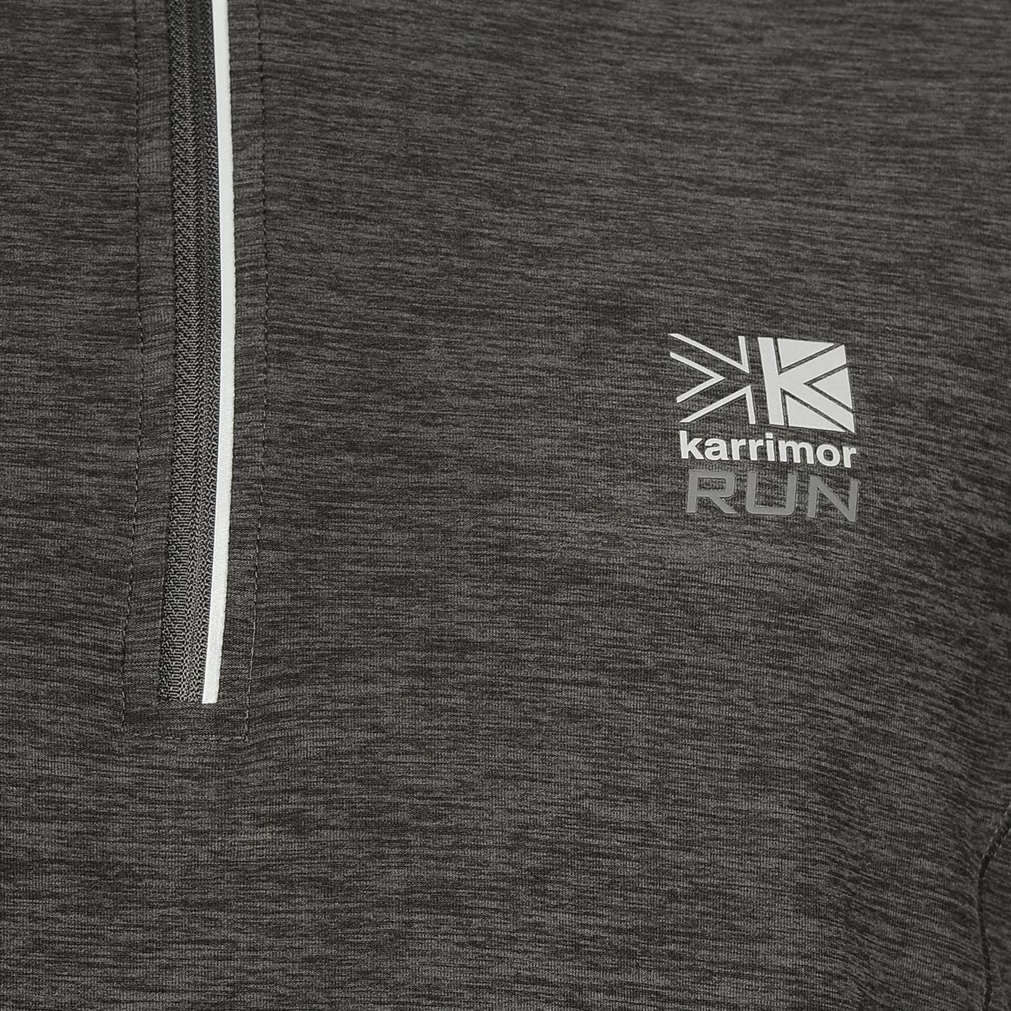 Karrimor-Correr-Mens-X-Cremallera-Camiseta-Camiseta-Top-Transpirable-Ligero-Mentonera miniatura 7