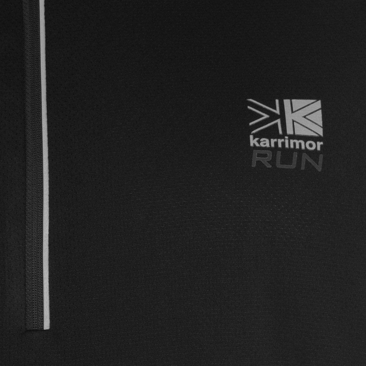 Karrimor-Correr-Mens-X-Cremallera-Camiseta-Camiseta-Top-Transpirable-Ligero-Mentonera miniatura 10