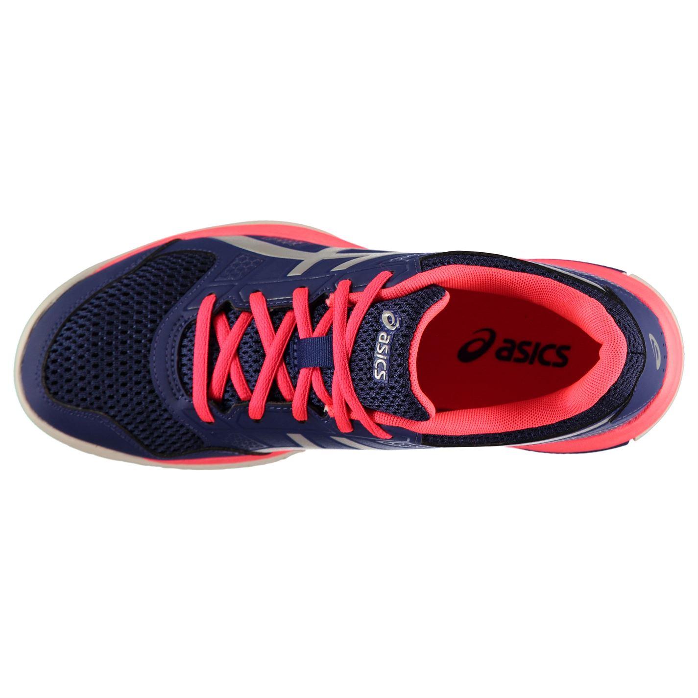voleibol con rosa de Rocket mujer Zapatillas de 8 acolchado Púrpura Zapatillas Asics Gel Cordones para cierre tobillo qg144B