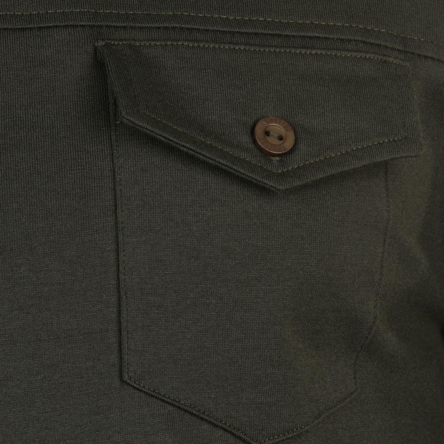 Para-Hombre-Firetrap-Pocket-manga-larga-Camiseta-Polo-Nuevo miniatura 5