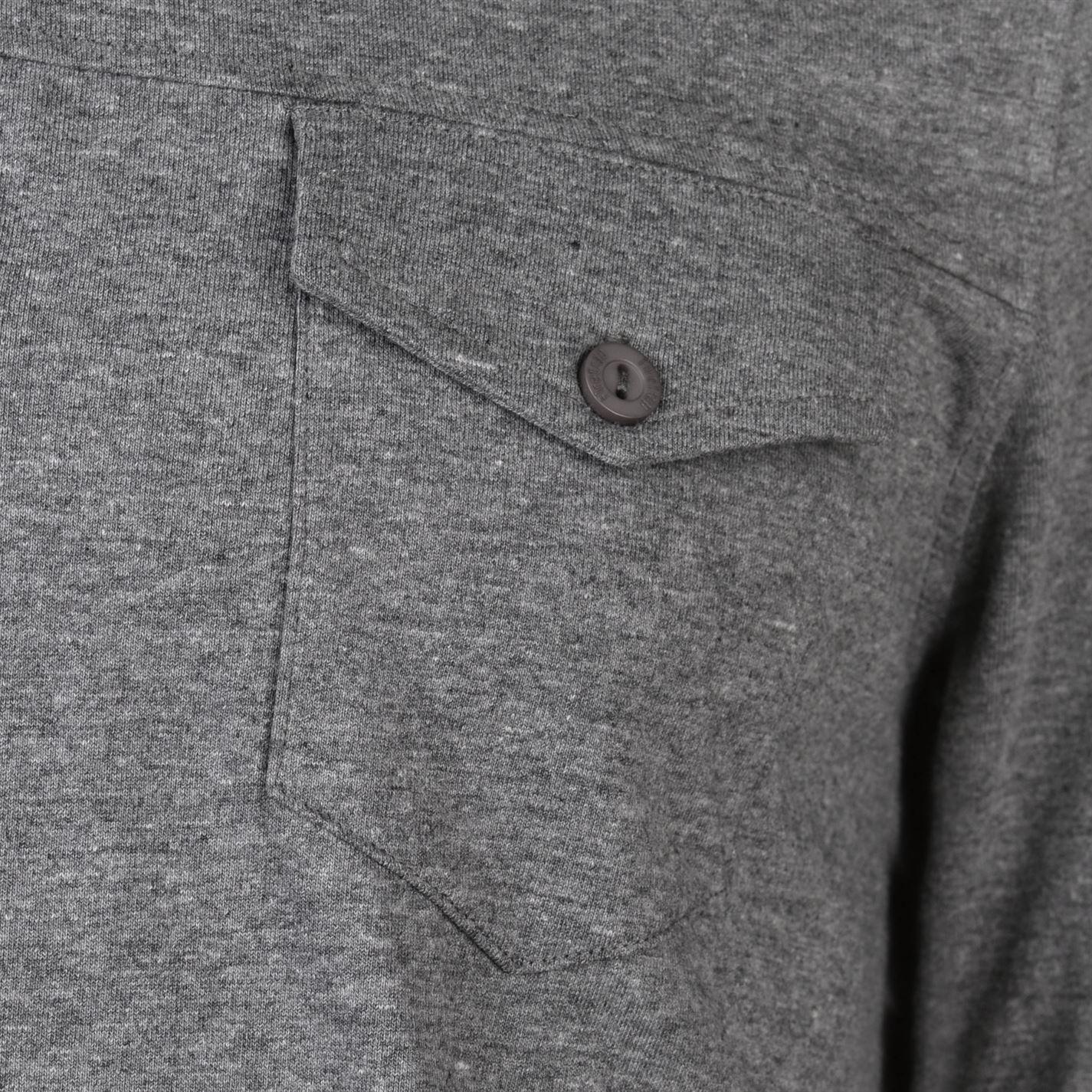 Para-Hombre-Firetrap-Pocket-manga-larga-Camiseta-Polo-Nuevo miniatura 8