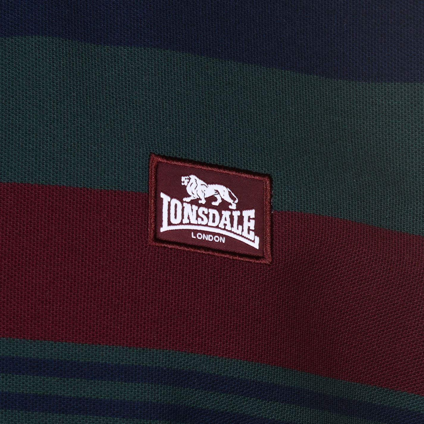 Lonsdale-Mens-Stripe-Polo-Shirt-Classic-Fit-Tee-Top-Short-Sleeve-Button-Placket thumbnail 9