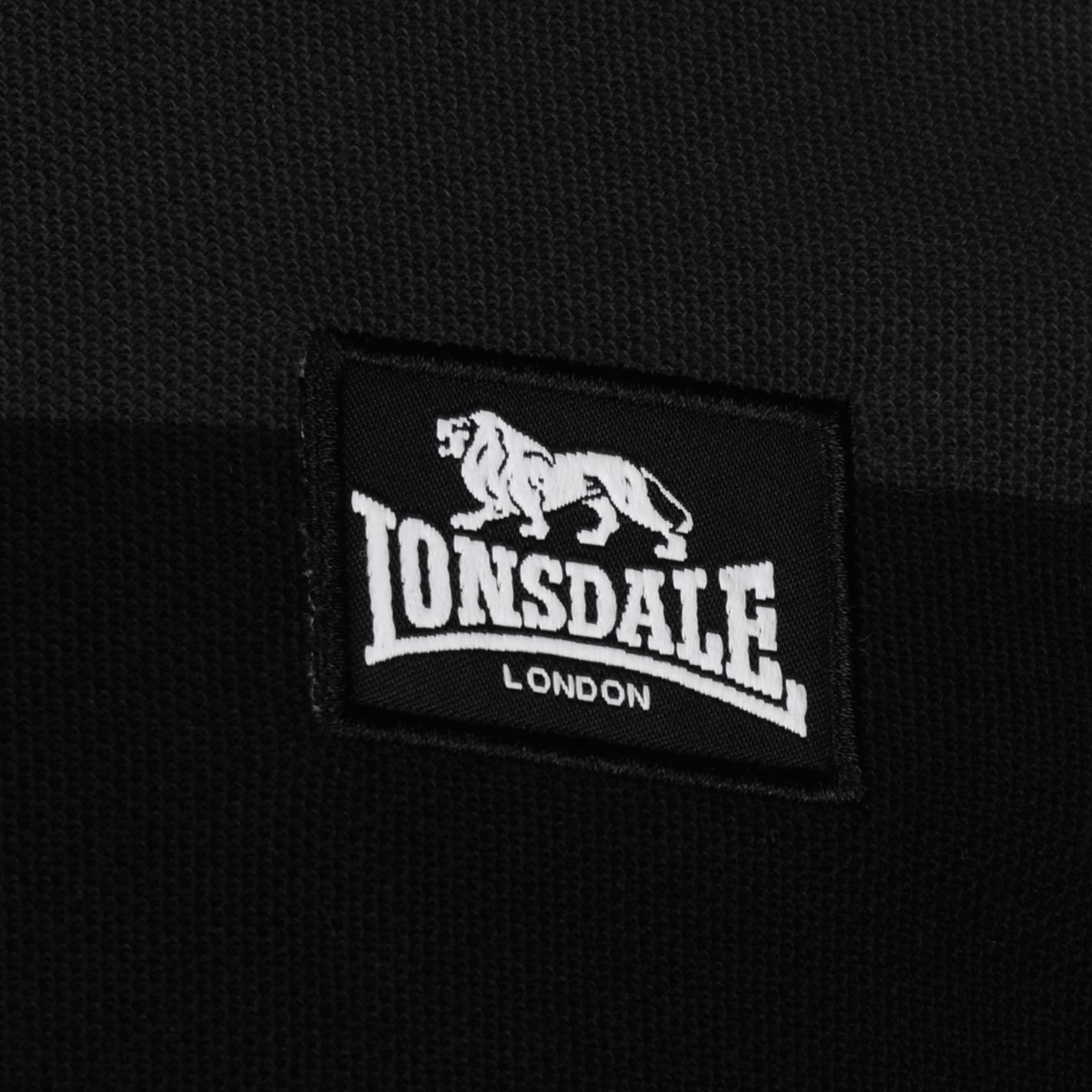 Lonsdale-Mens-Stripe-Polo-Shirt-Classic-Fit-Tee-Top-Short-Sleeve-Button-Placket thumbnail 15