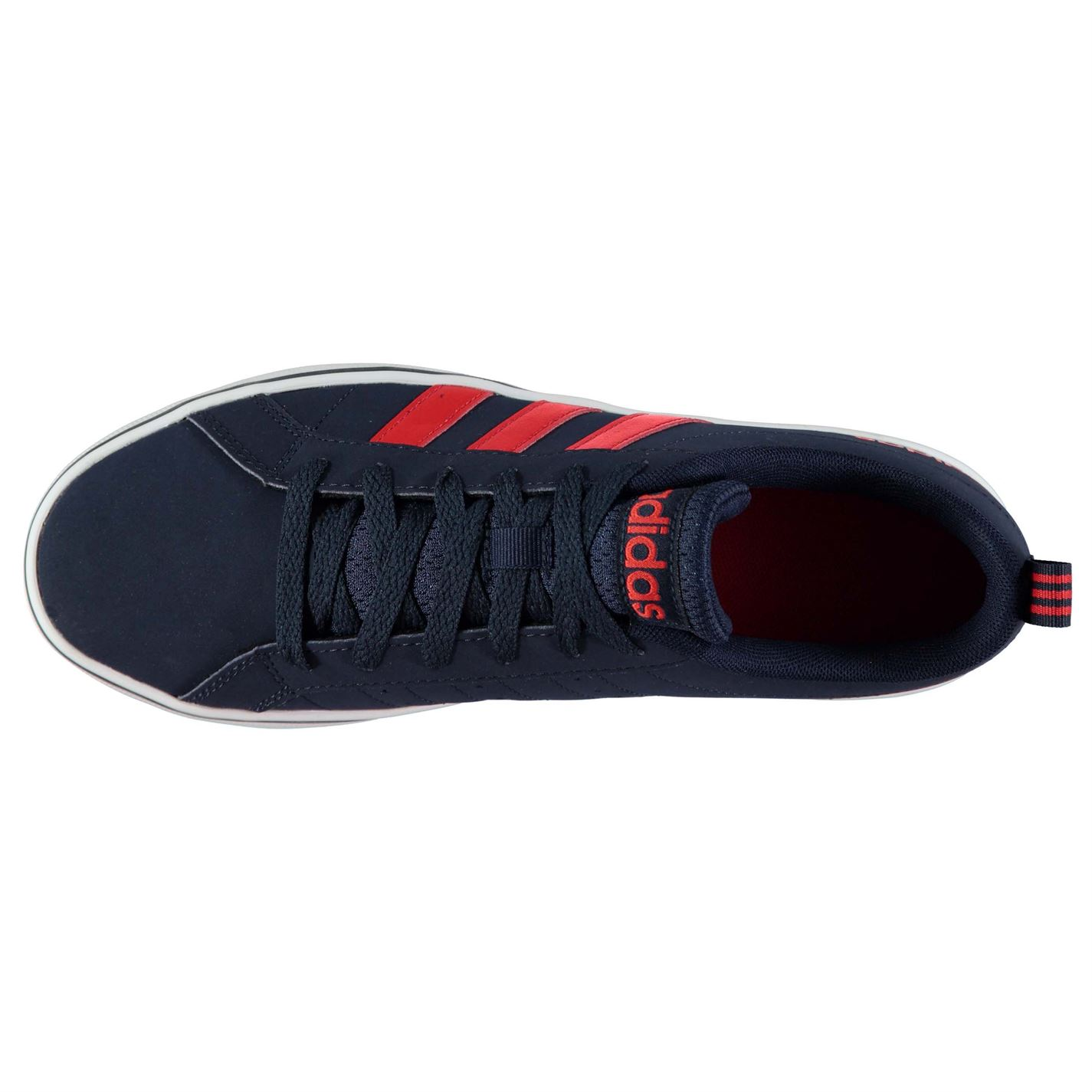 99bfeea76 adidas Mens Pace VS Nubuck Trainers Shoes Lace Up Tonal Stitching ...