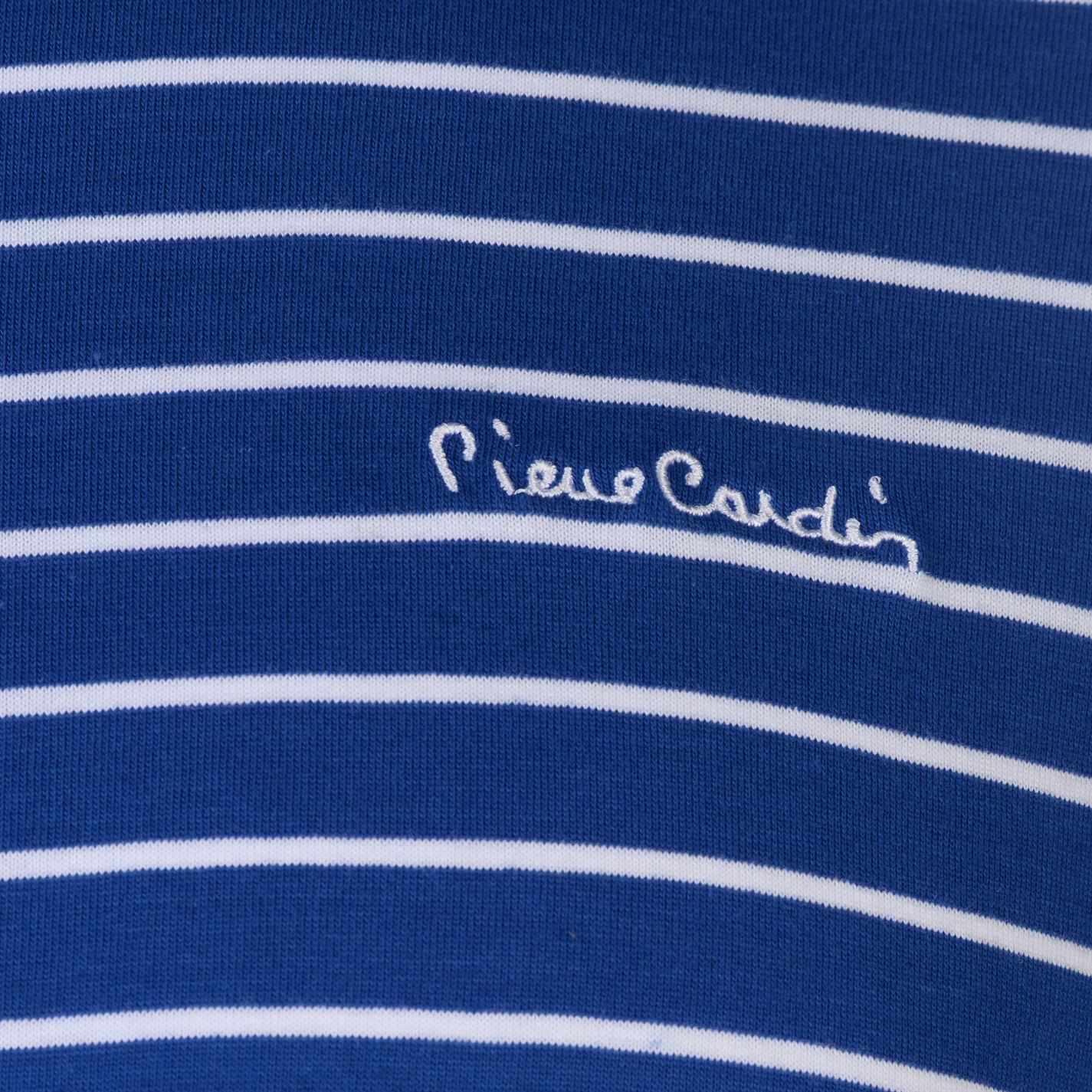 Pierre-Cardin-Mens-Stripe-Ringer-T-Shirt-Crew-Neck-Tee-Top-Short-Sleeve-Cotton thumbnail 16