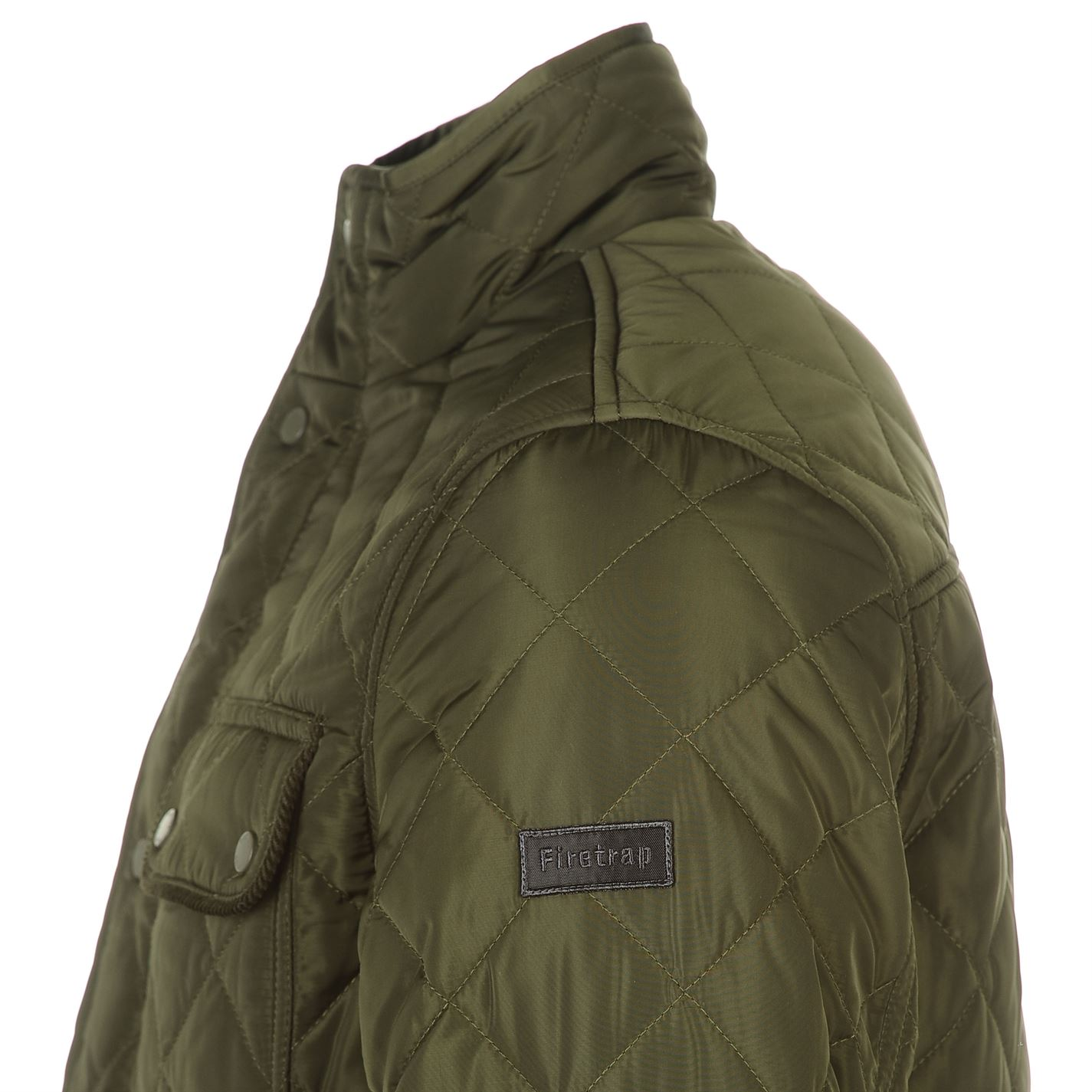 Mens-Firetrap-Kingdom-Jacket-Quilted-Long-Sleeve-New thumbnail 14