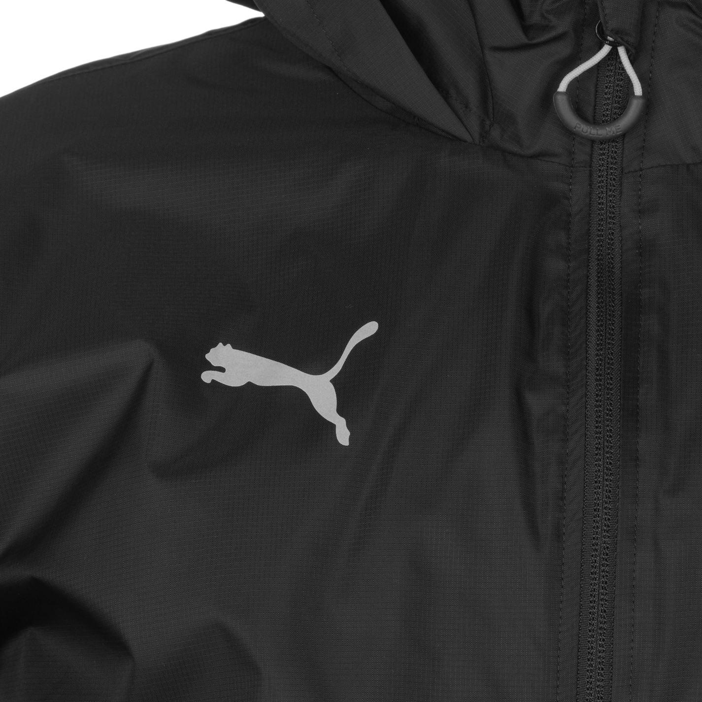 ed455f1e845e Puma Mens Essential Rain Jacket Coat Top Breathable Hooded Zip Full ...
