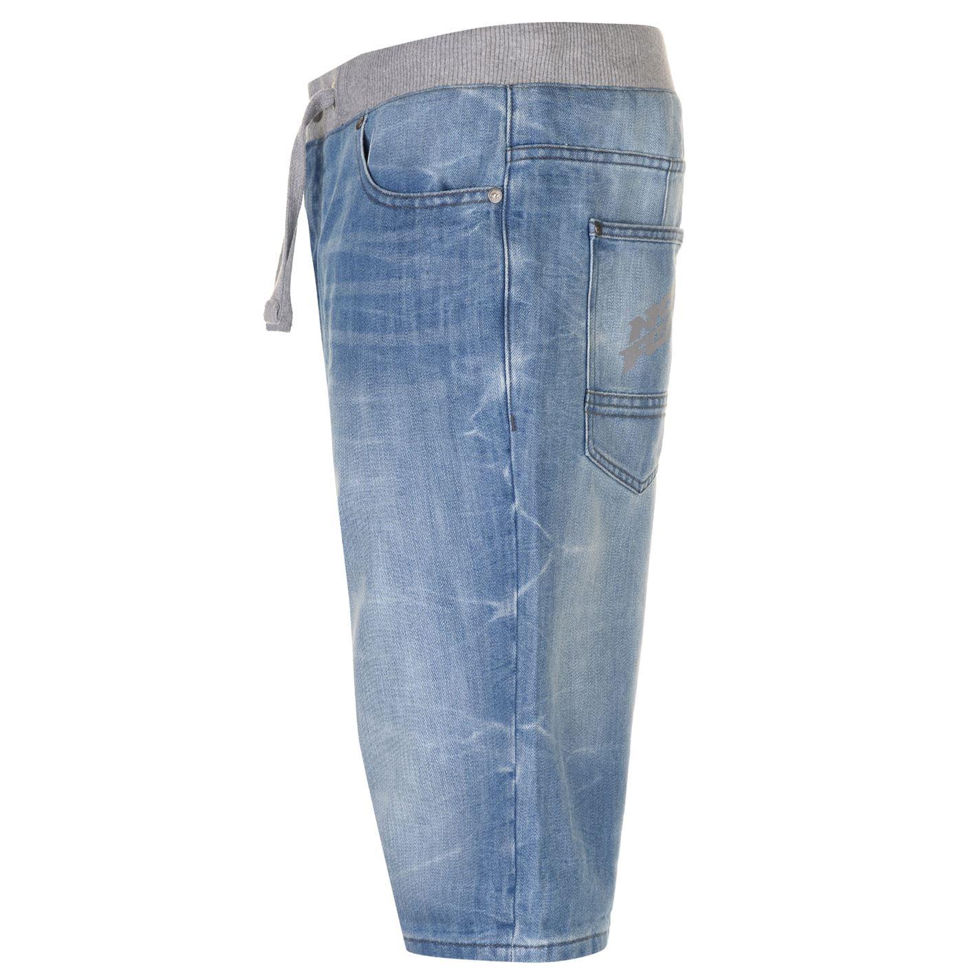 No-Fear-Mens-Denim-Shorts-Pants-Trousers-Bottoms-Zip-Warm-Drawstring-Elasticated thumbnail 8
