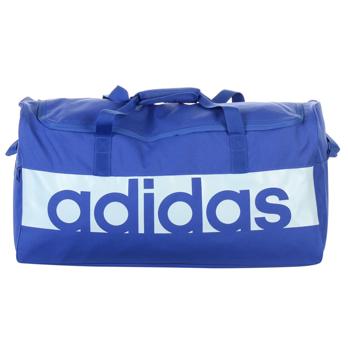 d92e282c5734 adidas Unisex Linear Performance Teambag Medium Holdall Zip Training ...