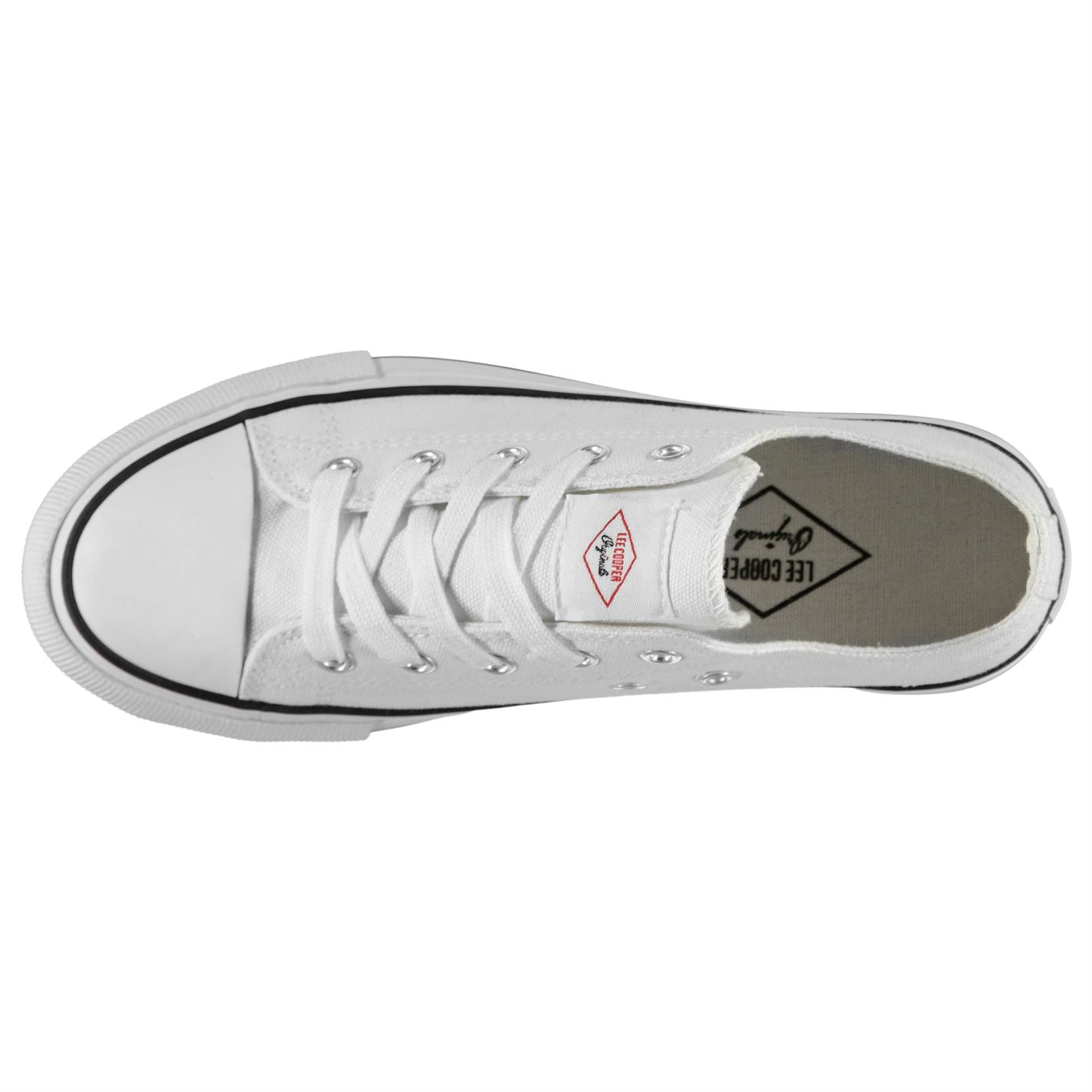 Lee Cooper Womens Canvas Lo Shoes Trainers Low Lace Up