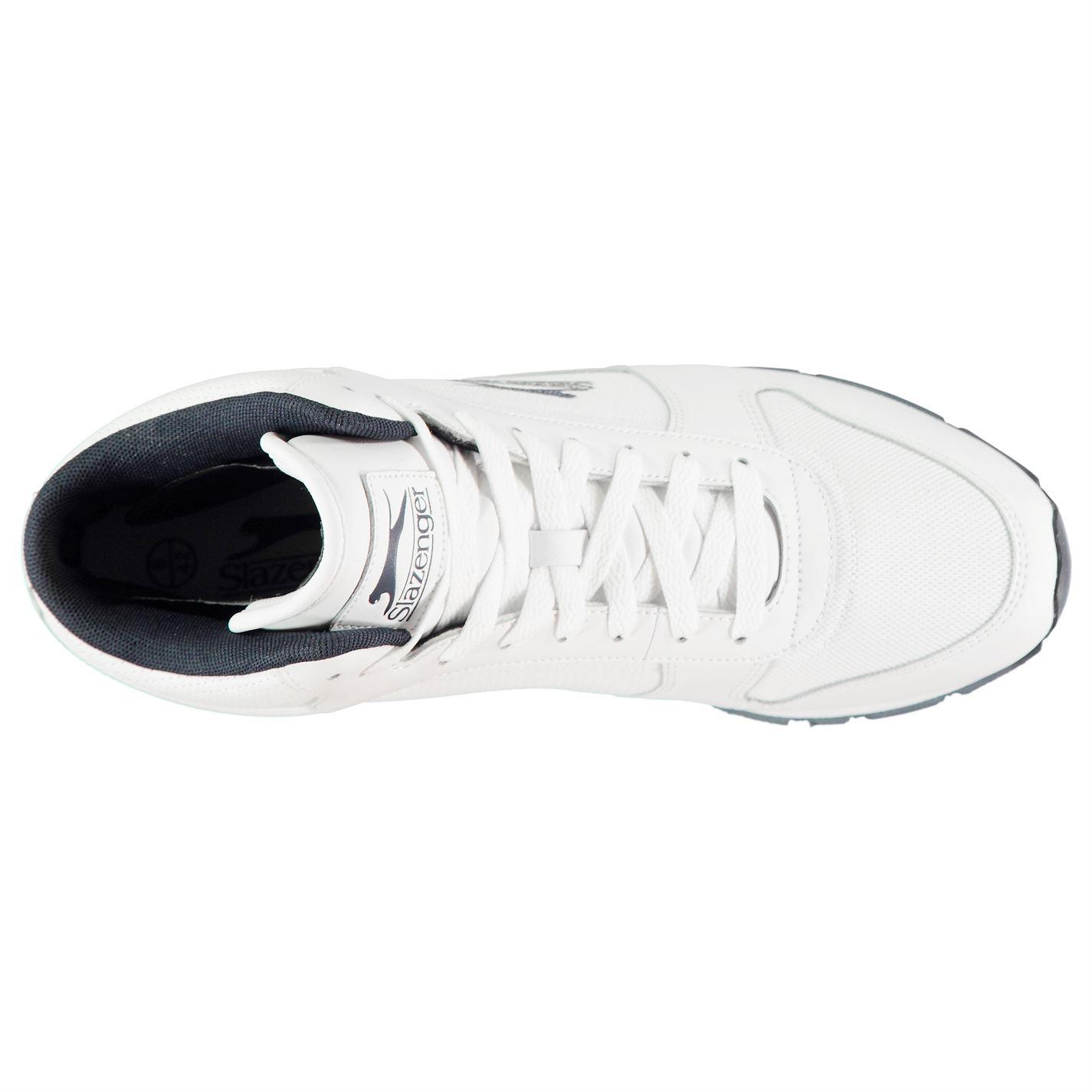 0ddb1e2084e Slazenger Mens Classic Hi Top Trainers Sports Shoes Lace Up Retro ...