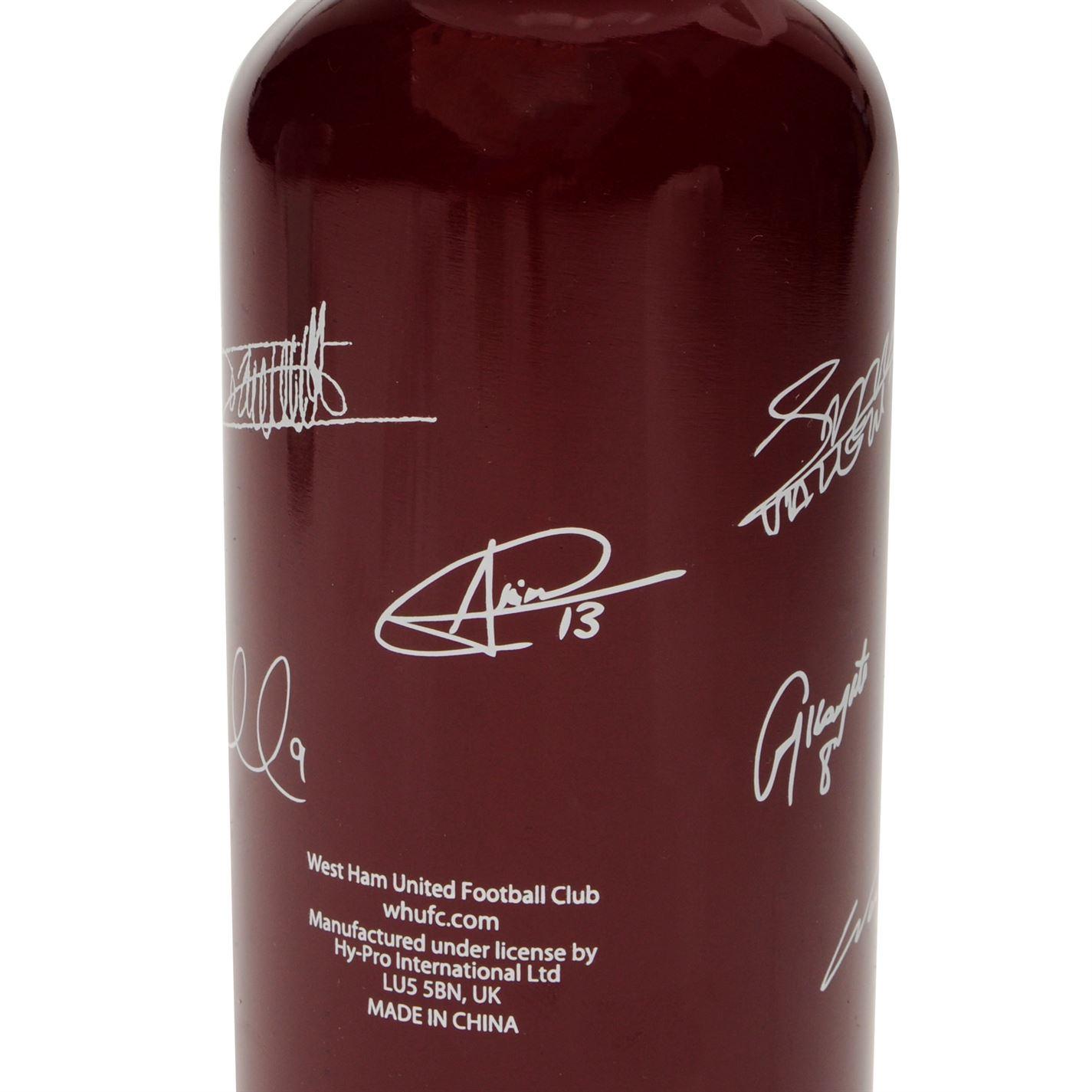 Team Aluminium Water Bottle 500ml Football Sports Support Accessories