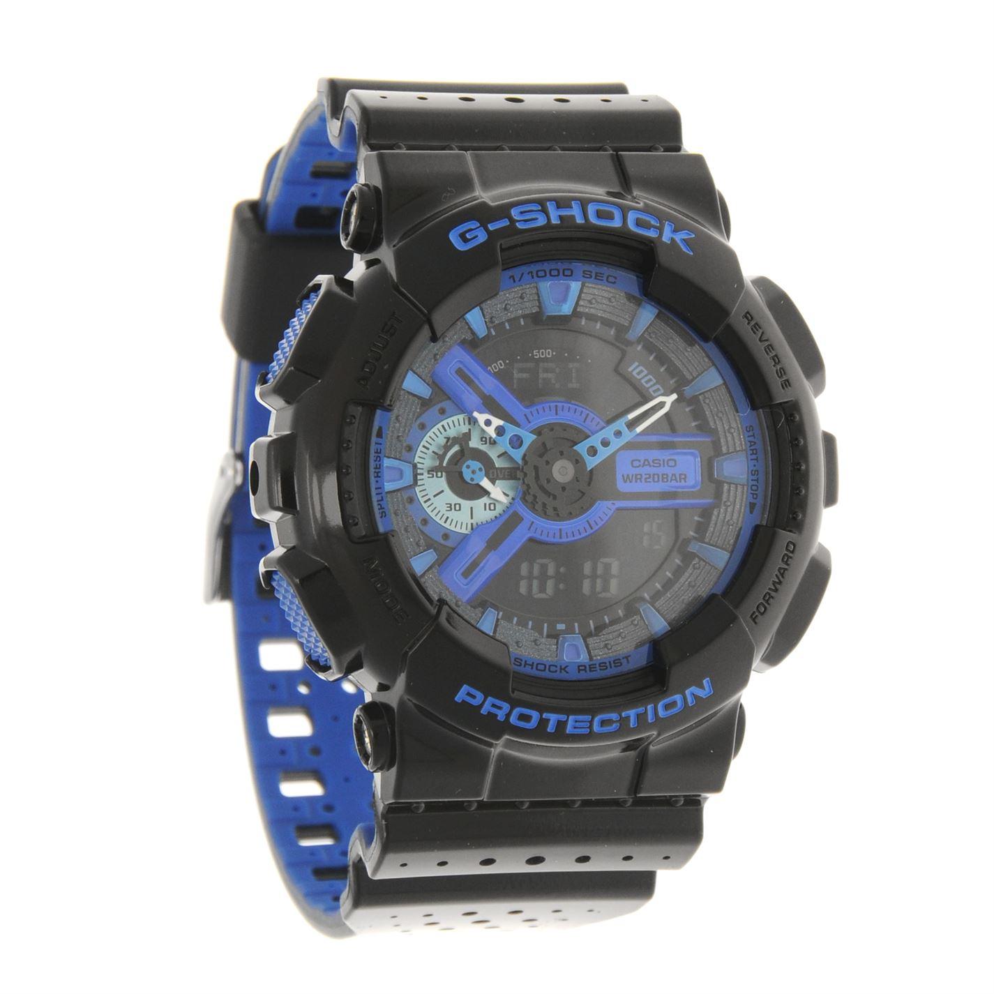 0e34182198ef Casio Mens G Shock GA 40 Watch Digital Round Face Rubber Strap Wrist ...