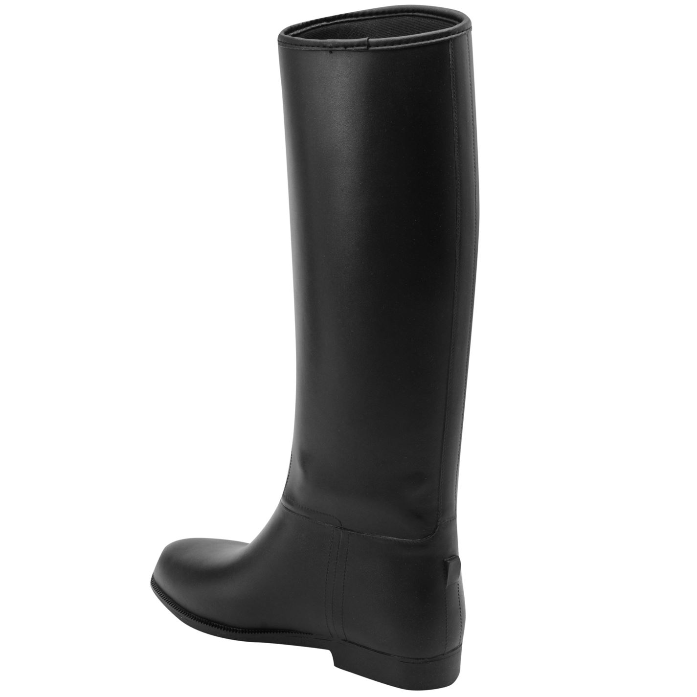 Gents Hombre On Rubber Negro Riding Long Shires Jodhpur Boots Pull UTwgqCP