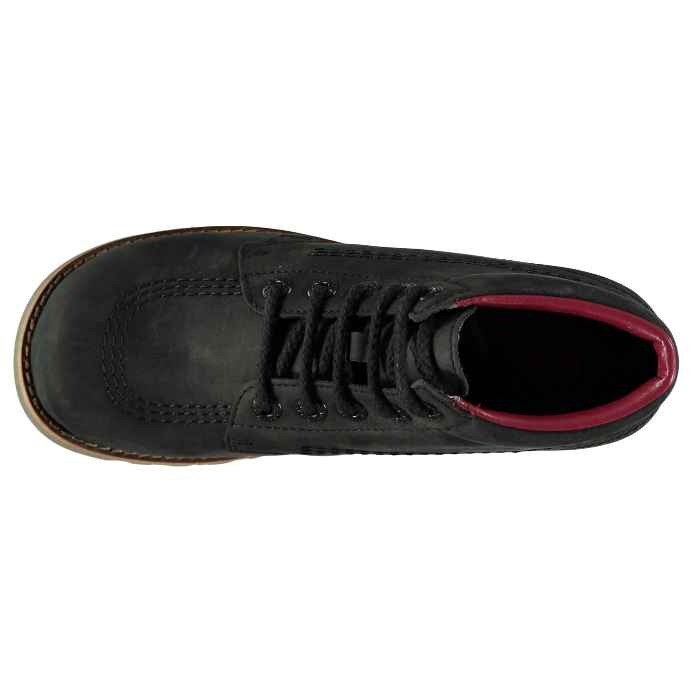 Kickers Kickers Kickers Kick Hi Classic Leather shoes Ladies Laces Fastened be9a49