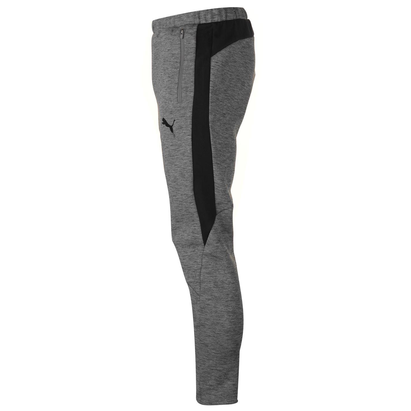 Details about Puma Evostripe Pants Mens Gents Fleece Jogging Bottoms Trousers Zip Stripe