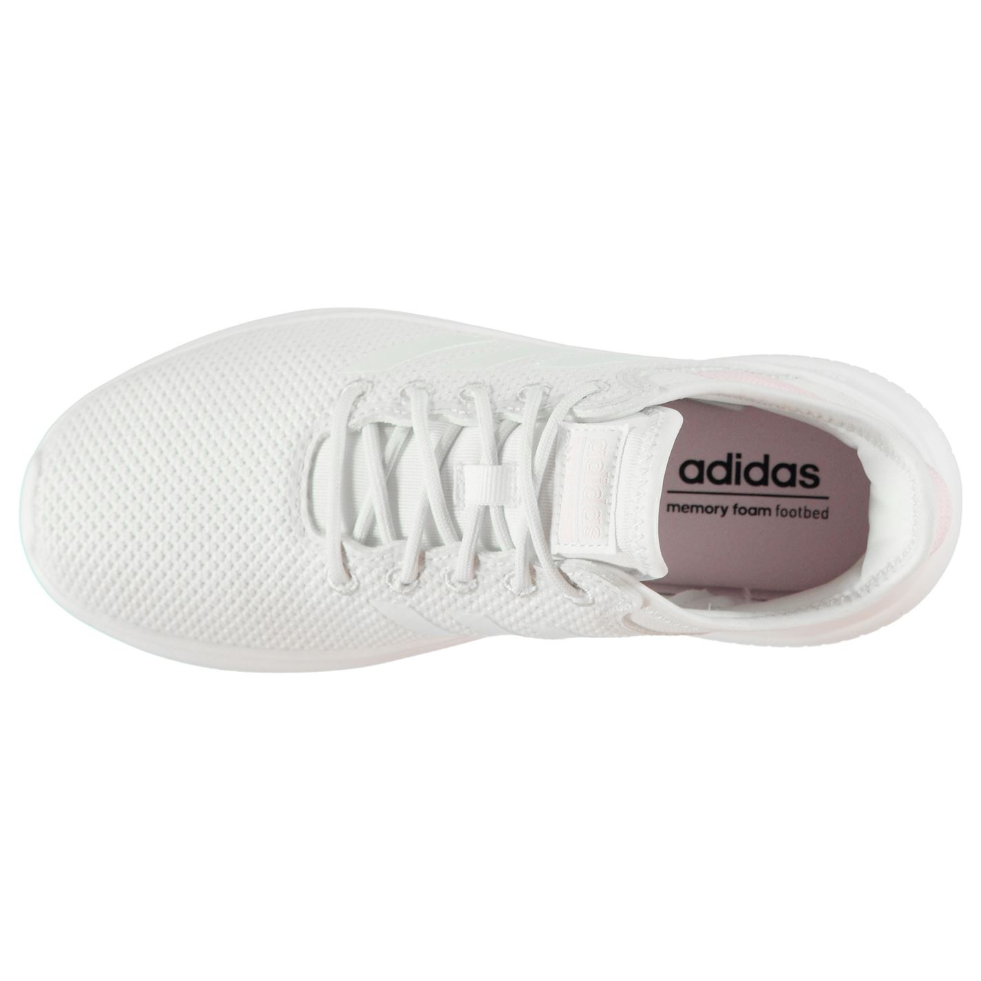 adidas Cloud Foam QT Flex Sneakers Ladies Runners Laces Fastened Ventilated | eBay
