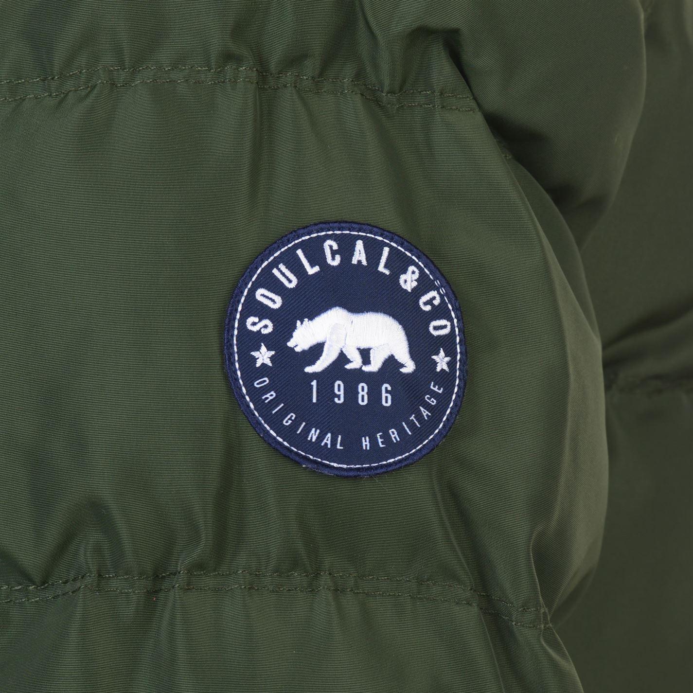 Mens-SoulCal-2-Zip-Bubble-Jacket-Padded-New thumbnail 17