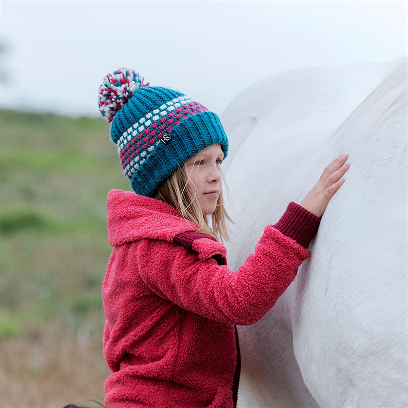 682aa2522 Details about Horseware Kids Girls Longline Sherpa Fleece Zip Full Fold  Down Collar