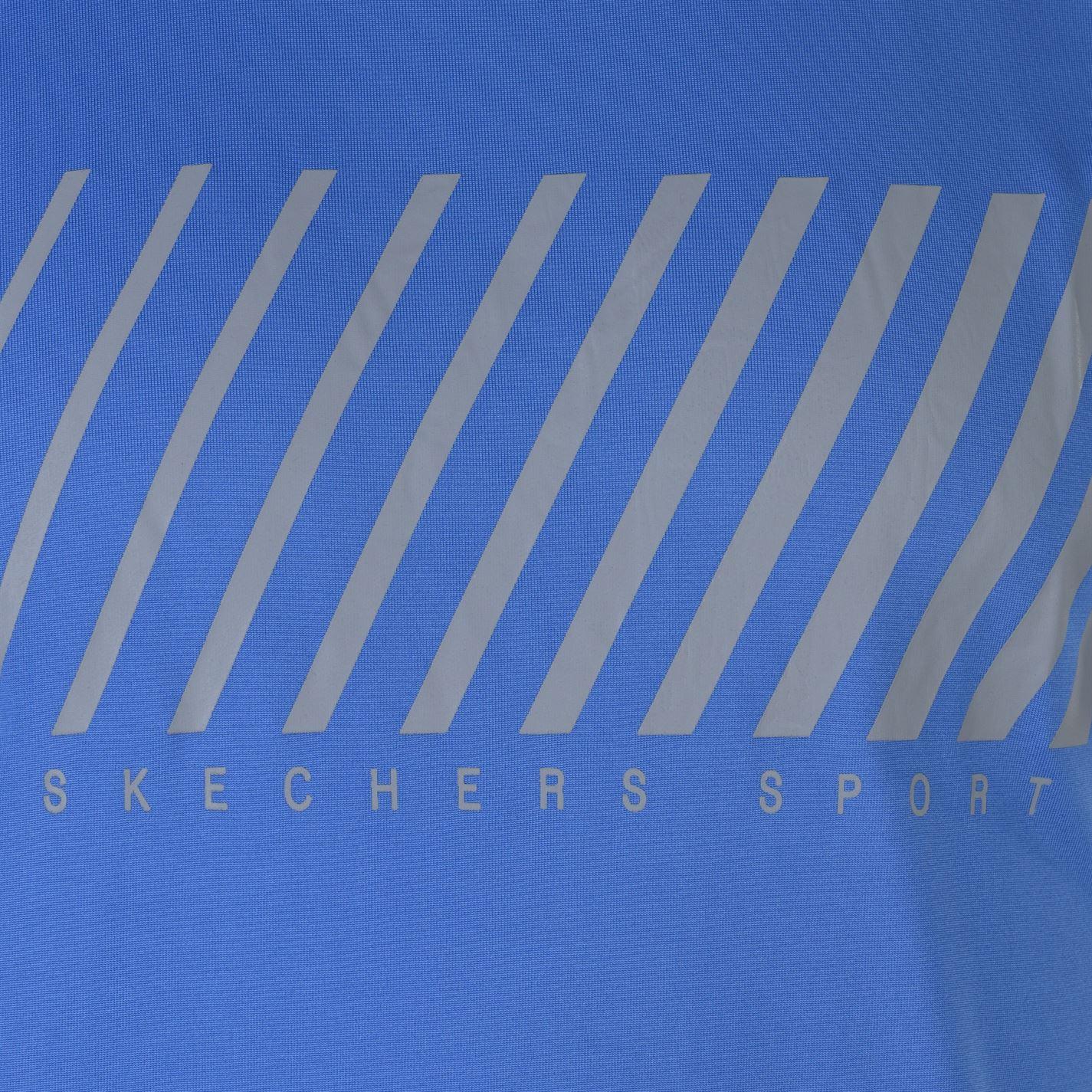 Skechers-Mens-Rendimiento-Grafico-camiseta-Manga-Corta-Camiseta-Top-Cuello-Redondo miniatura 13