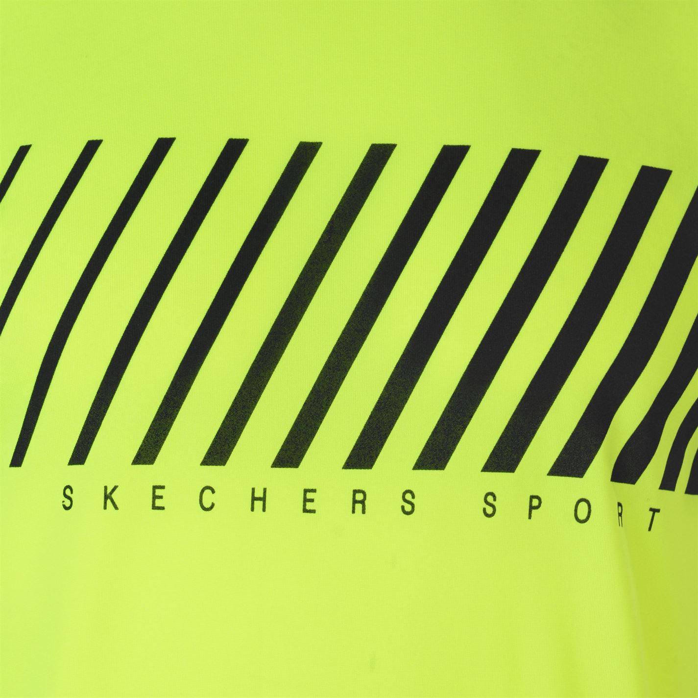 Skechers-Mens-Rendimiento-Grafico-camiseta-Manga-Corta-Camiseta-Top-Cuello-Redondo miniatura 16