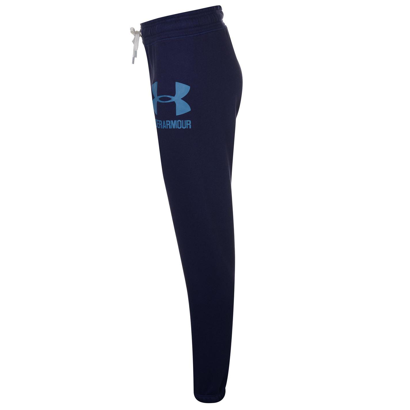 Under Armour Womens Logo Fleece Joggers Jogging Bottoms Trousers ... 2406526304