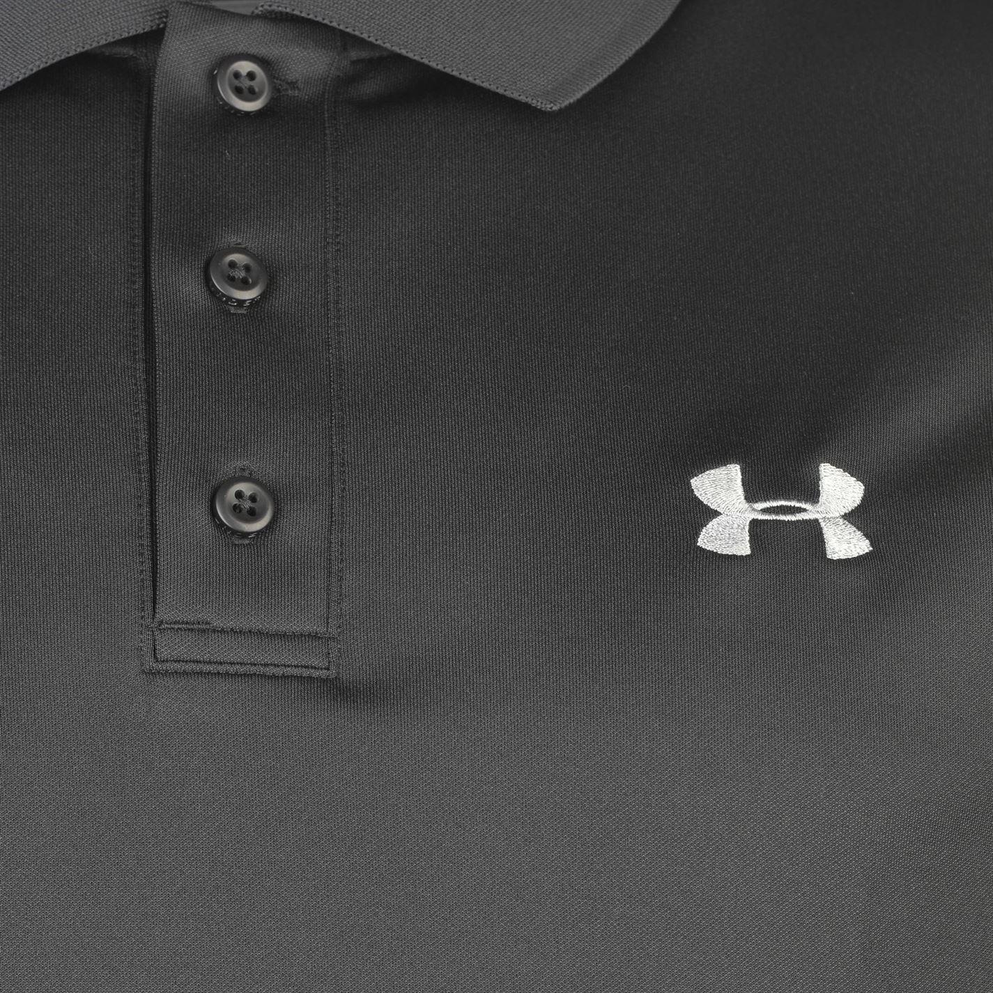 Under-Armour-Camiseta-Polo-para-hombre-realizar-Manga-Corta-Camiseta-Top-Golf-Deportes miniatura 17