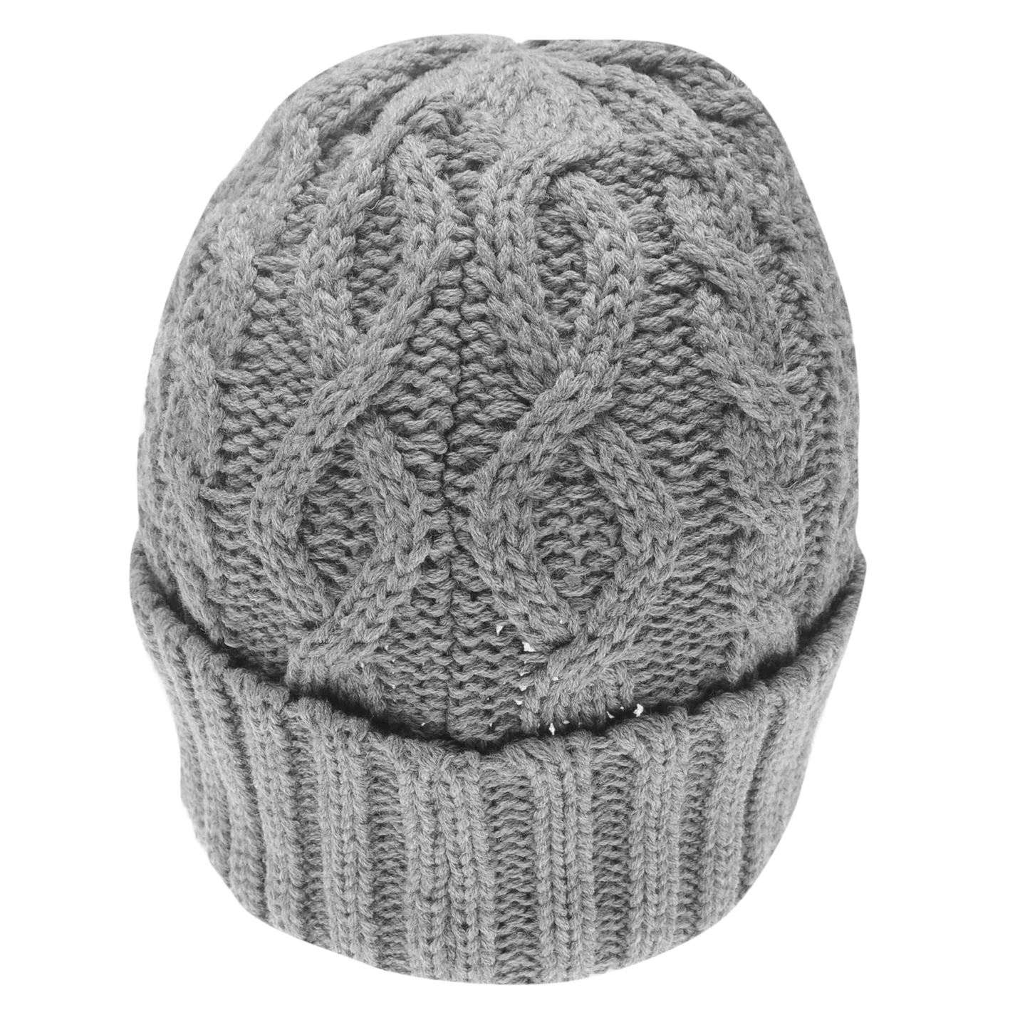 Mens-Firetrap-Cable-Beanie-Pattern-New thumbnail 16