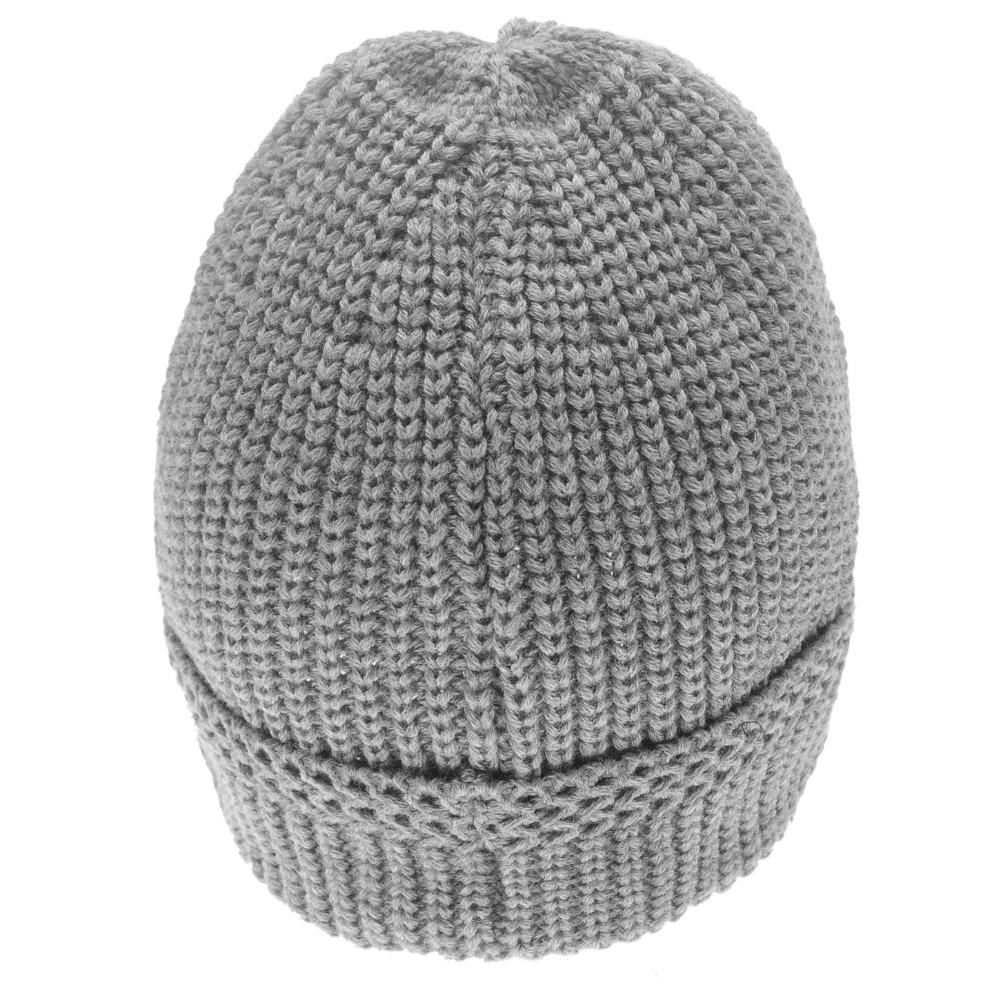 MENS FIRETRAP GREY MARL CABLE HAT WOOLLY KNIT KNITTED SKI SKIING BOBBLE BEANIE