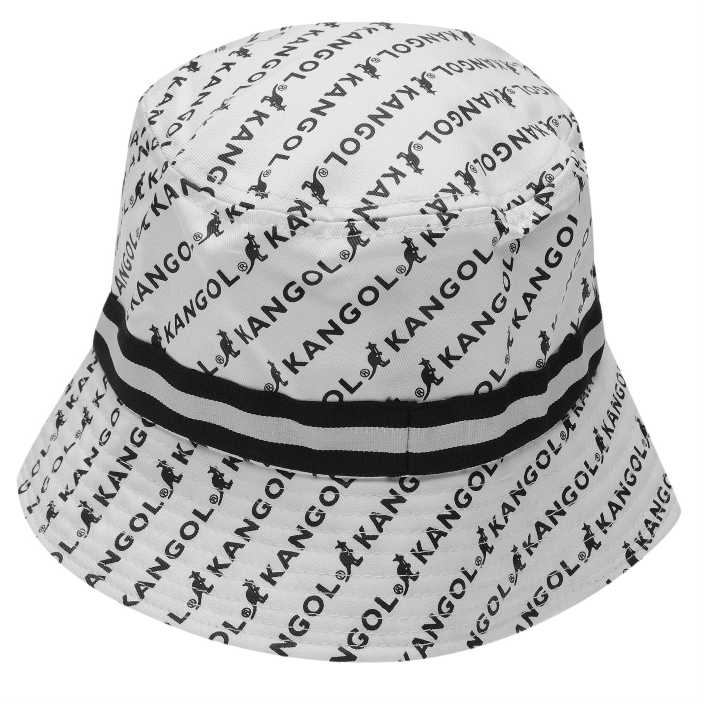 6dcc8d6334b Mens Kangol Pattern Bucket Hat Cotton New