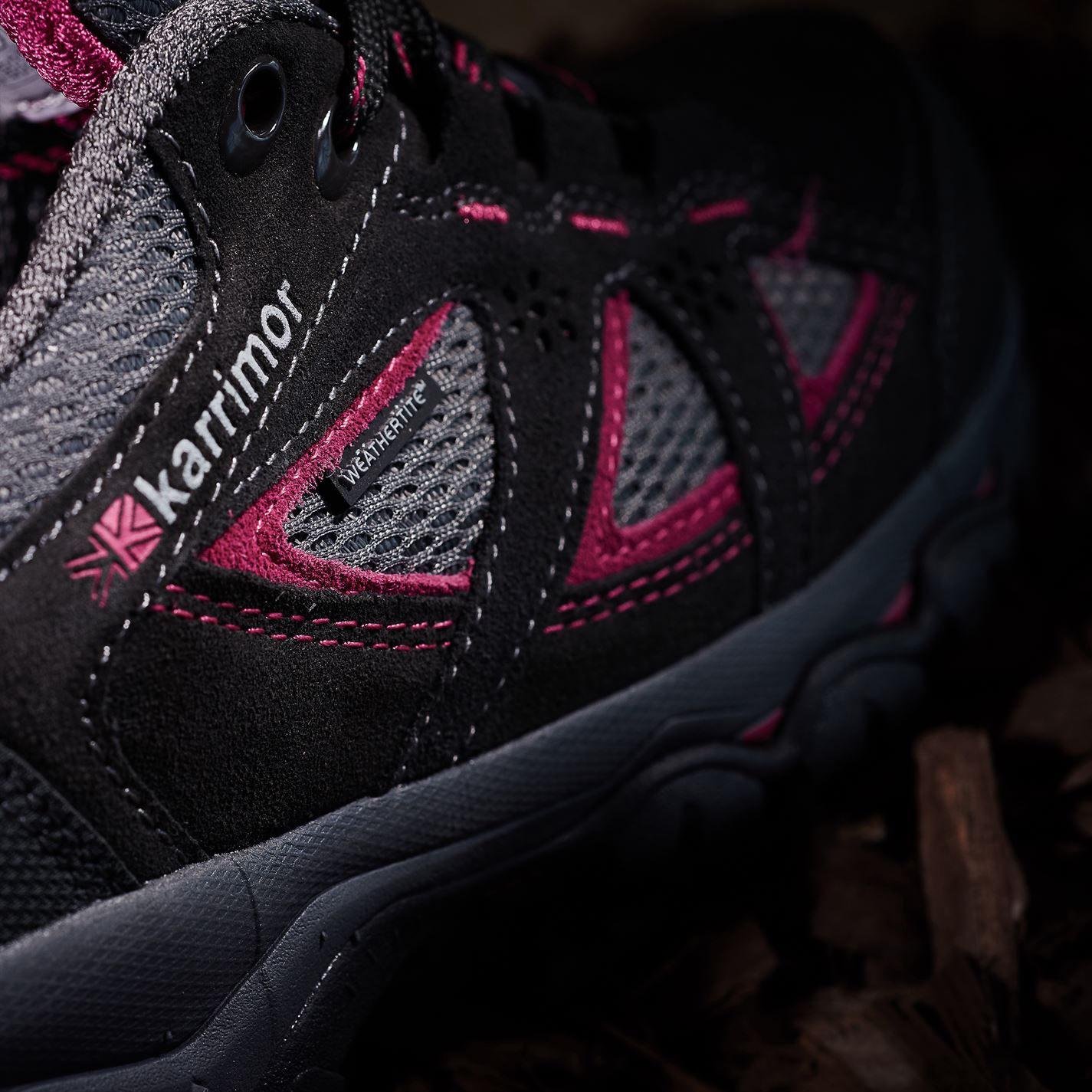Karrimor-Womens-Mount-Low-Ladies-Walking-Shoes-Waterproof-Laced-Hiking-Trainers thumbnail 14