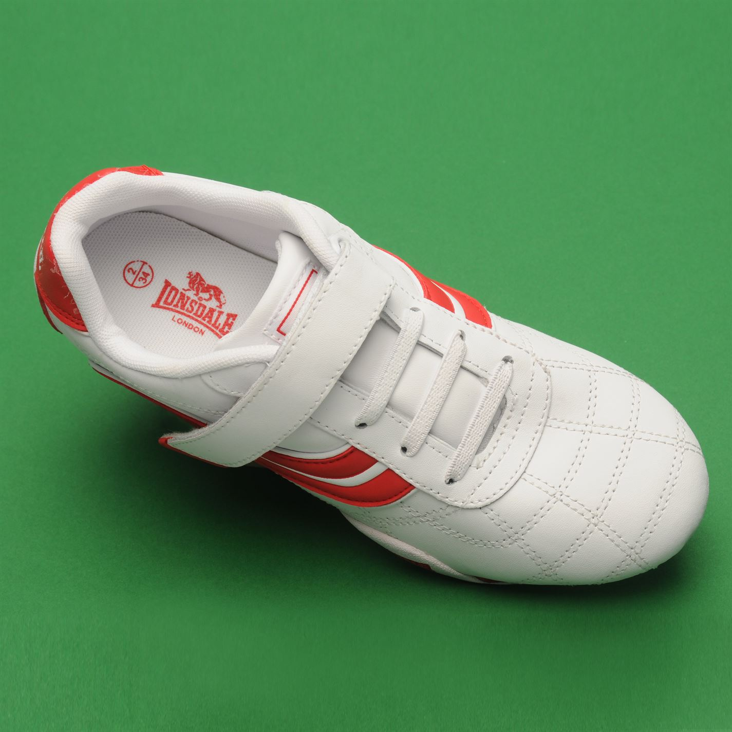 Lonsdale-Kids-Camden-Child-Boys-Trainers-Lace-Up-Casual-Sports-Shoes-Footwear thumbnail 29