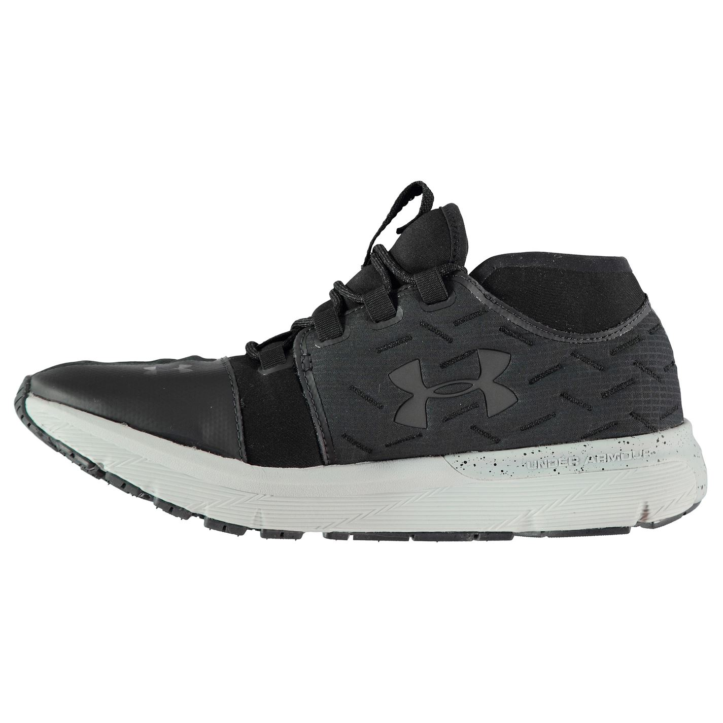 Armour Hombres Zapatos correr gris Under negro Gents para Cordones Corredores Run Charged Reactor 4Yqd0