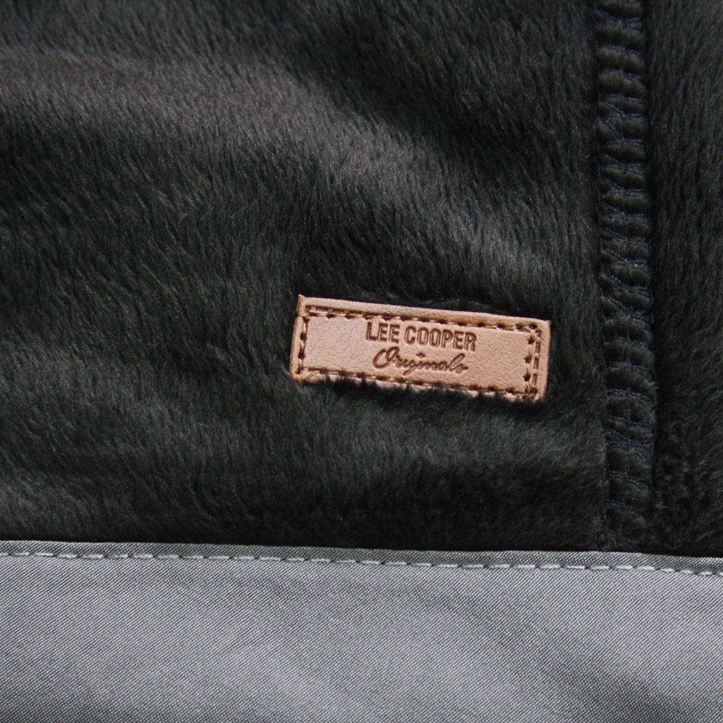 Lee-Cooper-Mens-Teddy-Fleece-Jacket-Full-Zip-Top-Coat-Sweatshirt-Jumper-Warm thumbnail 10