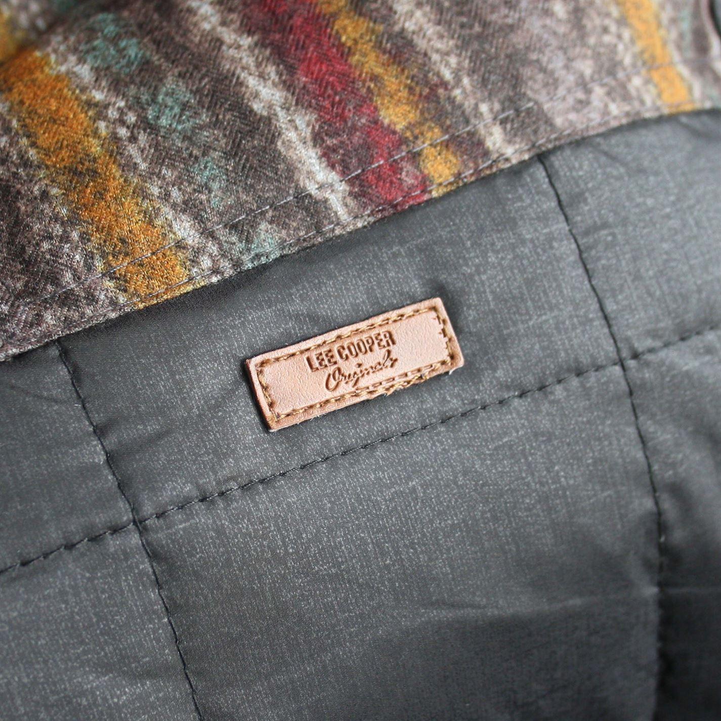 Lee Cooper Knit Hooded Down Jacket Mens Gents Coat Top Zip Zipped ... 4ddee4b907