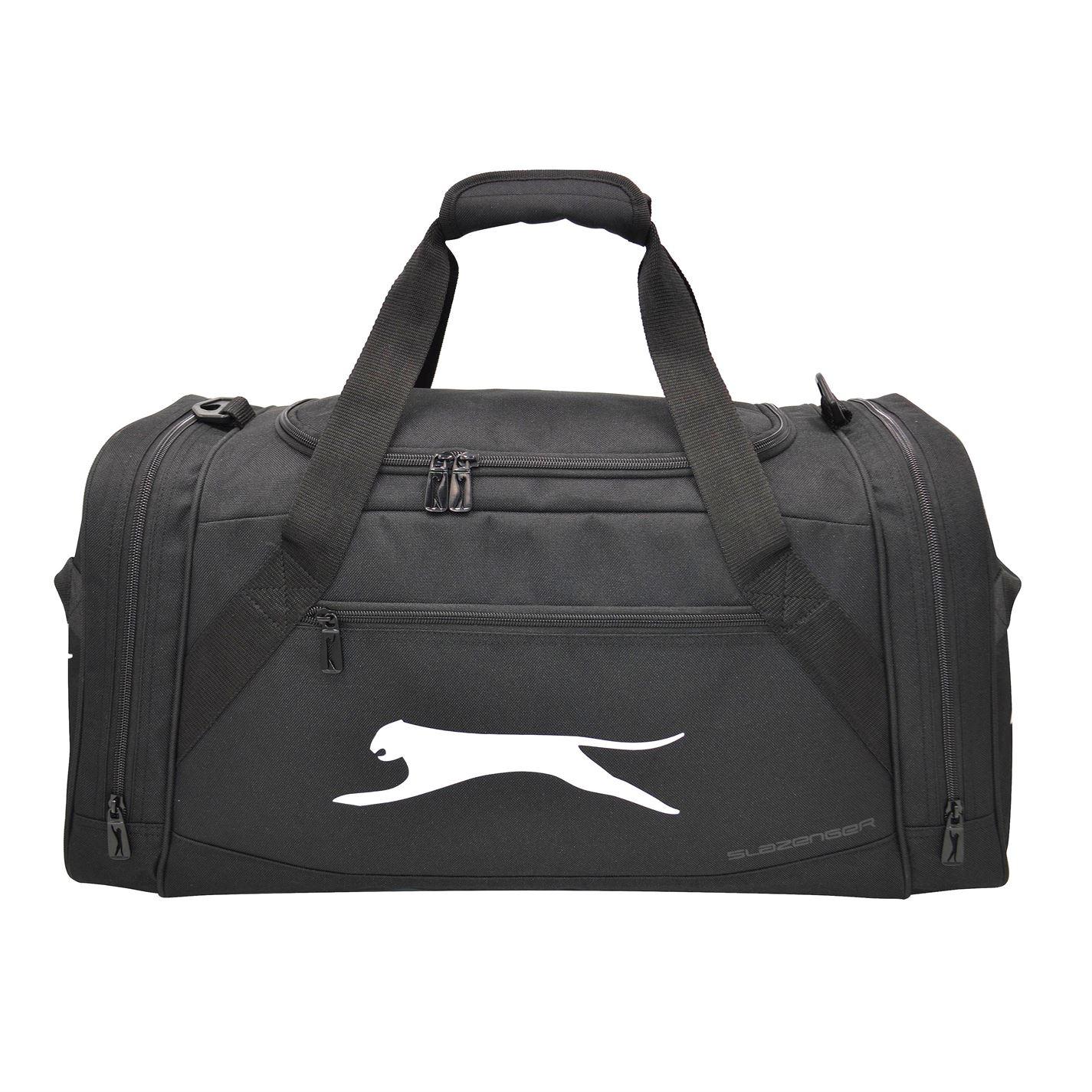 Slazenger Medium Holdall Zip Pockets Travel Storage Luggage ... 21fdc6ae1e
