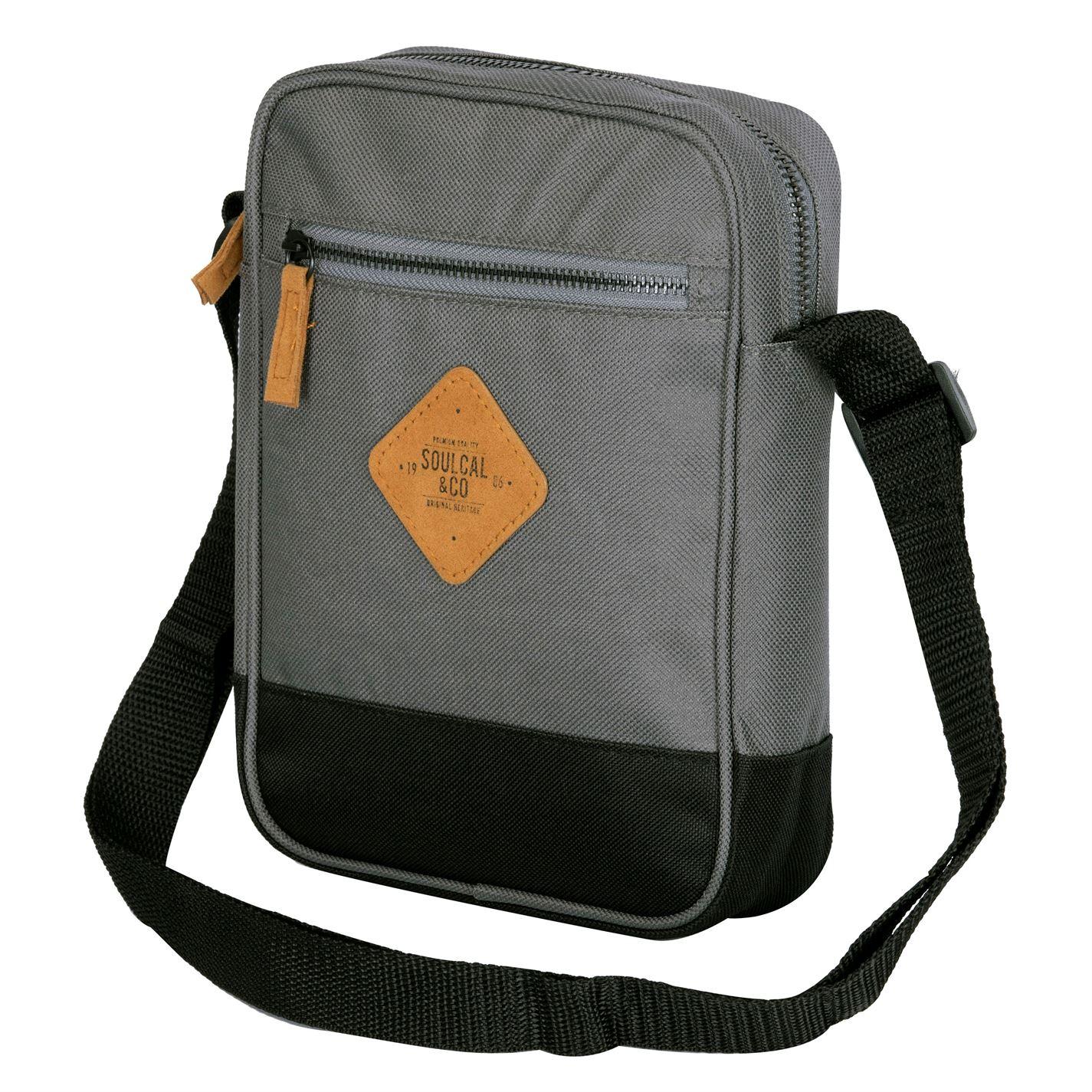 Unisex-SoulCal-Mini-Gadget-Bag-Zip-New thumbnail 6