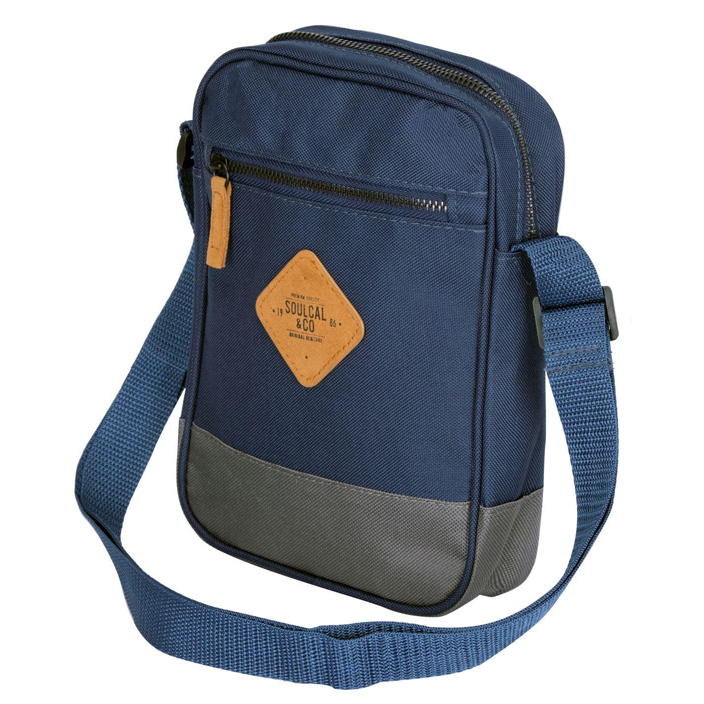 Unisex-SoulCal-Mini-Gadget-Bag-Zip-New thumbnail 12
