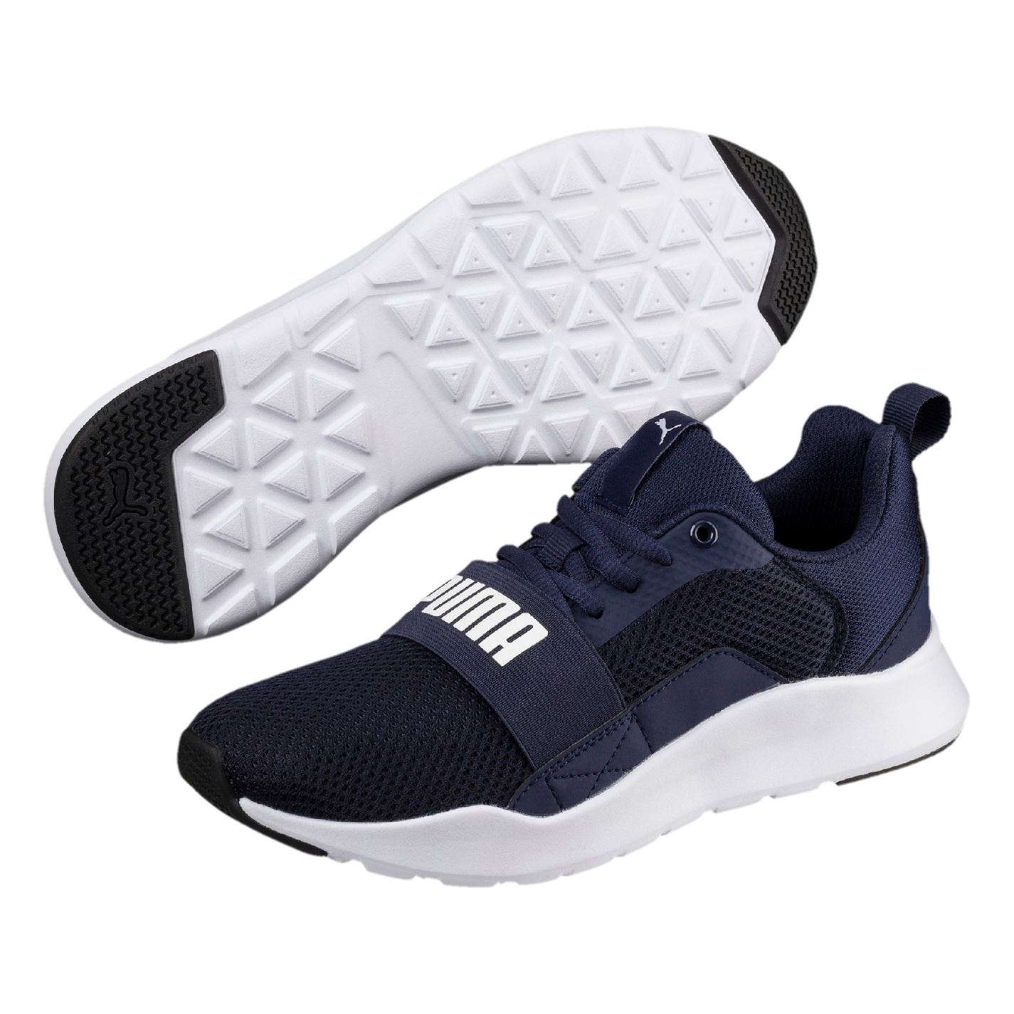 1f341de7d1a Puma Kids Boys Wired Junior Trainers Runners Lace Up Breathable ...
