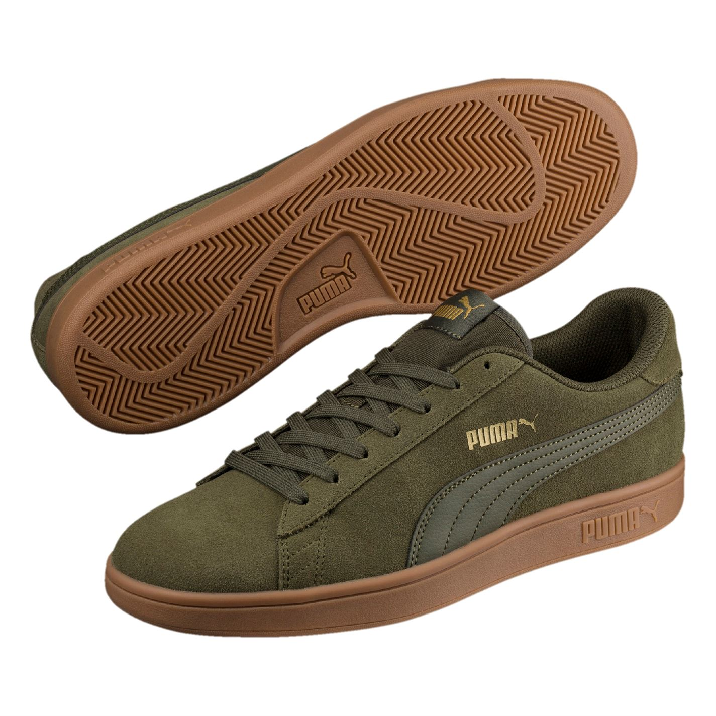 Puma Mens Smash V2 Suede Trainers Lace Up Padded Ankle Collar  b87c48de6