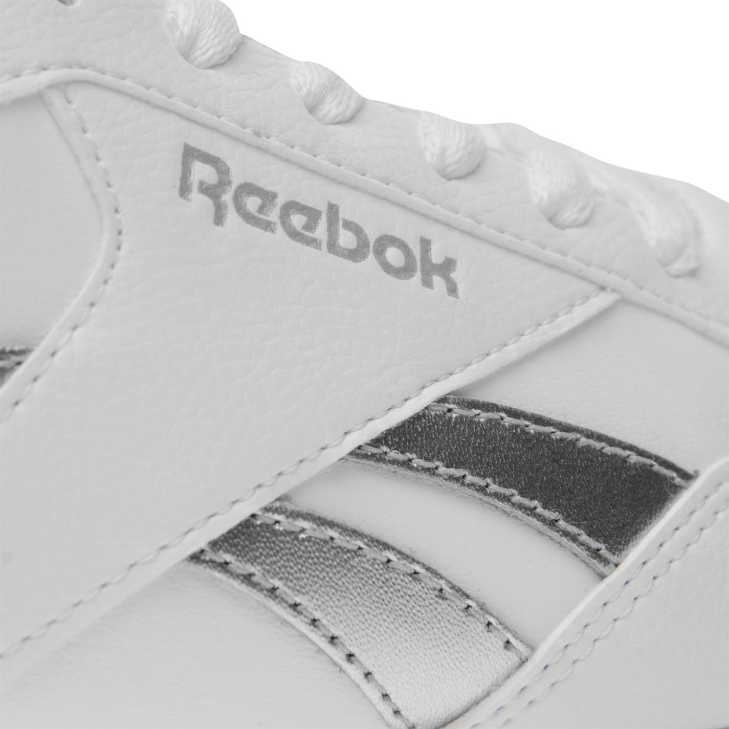 Reebok Ladies Royal Glide Ripple Clip Trainers Shoes Footwear Laces ... 17f179747