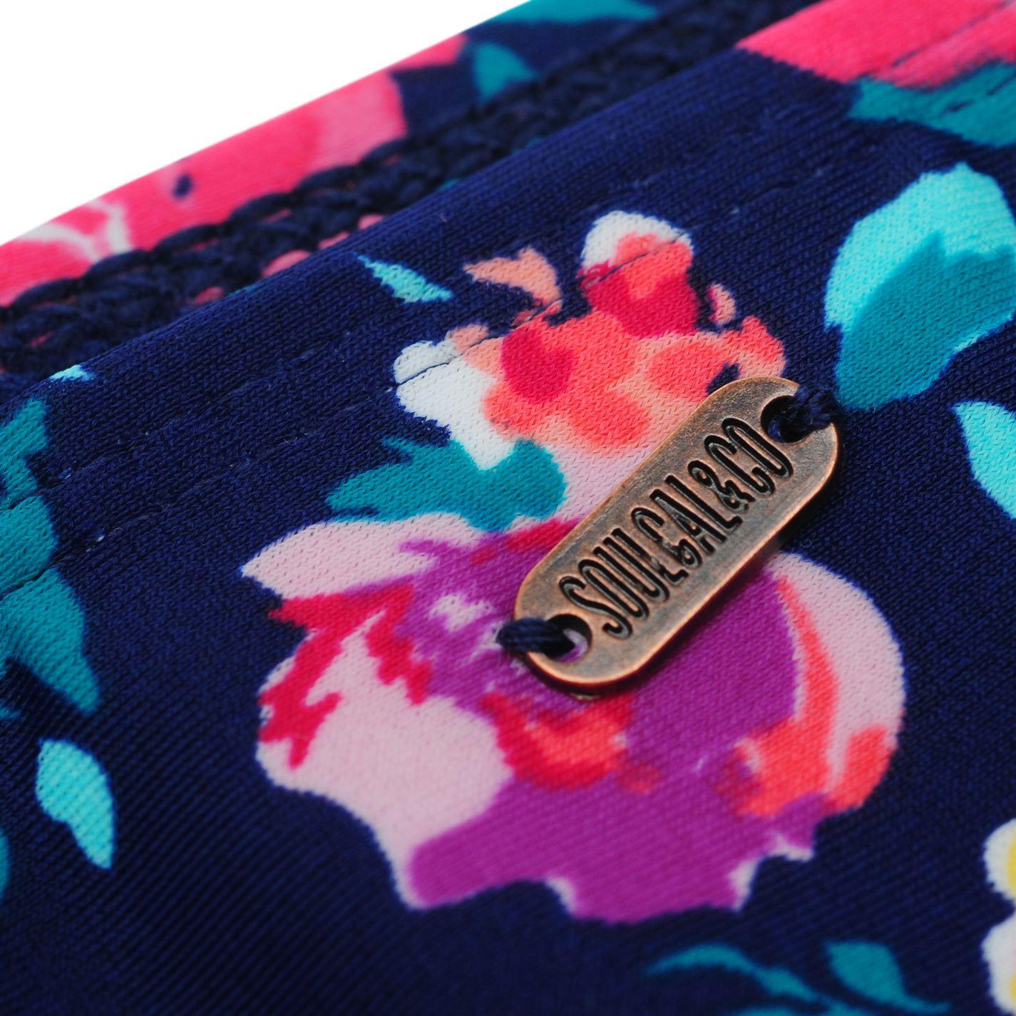 b3a42ed9512c8 SoulCal Ruched Bikini Briefs Ladies Pattern Stretch Floral ...