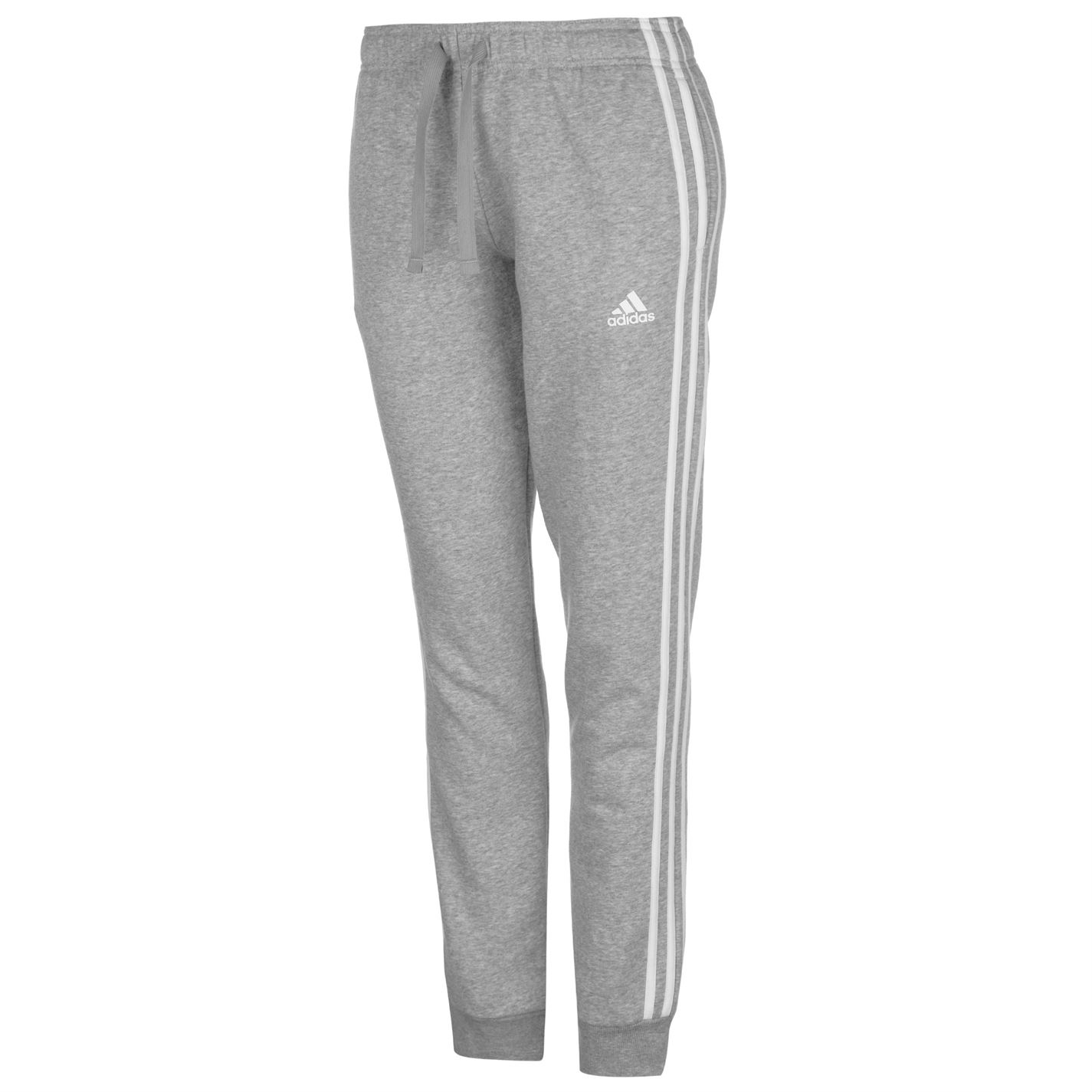 a0dde145a2f9 adidas Womens Chillout Tracksuit Fleece Long Sleeve Crew Neck Stripe ...