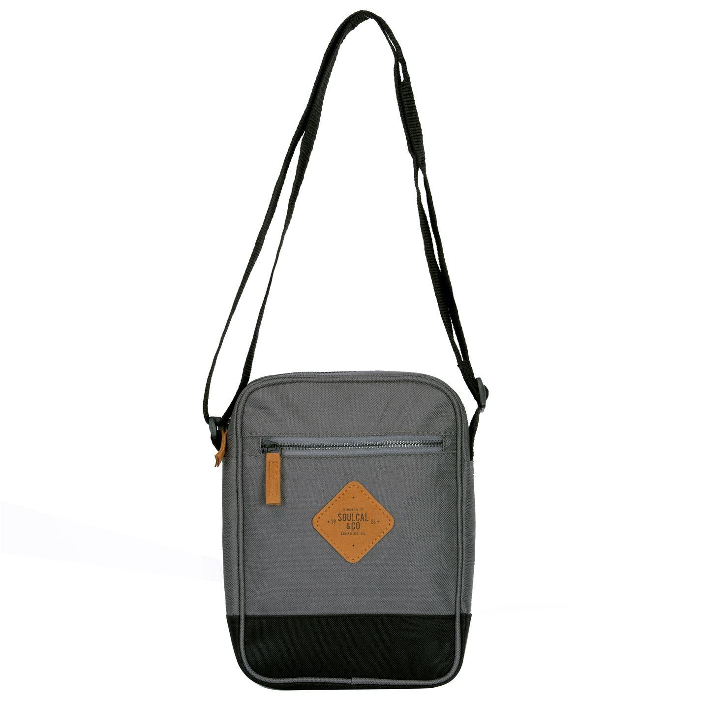 Unisex-SoulCal-Mini-Gadget-Bag-Zip-New thumbnail 7