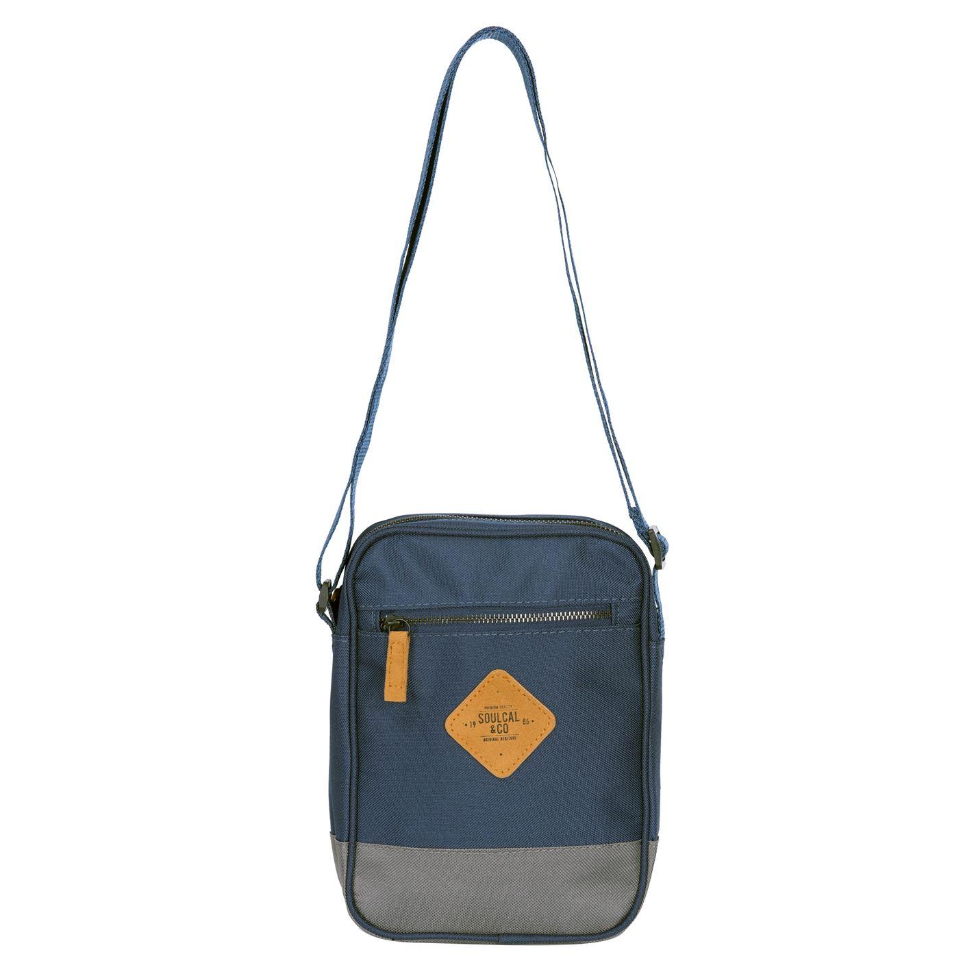 Unisex-SoulCal-Mini-Gadget-Bag-Zip-New thumbnail 13