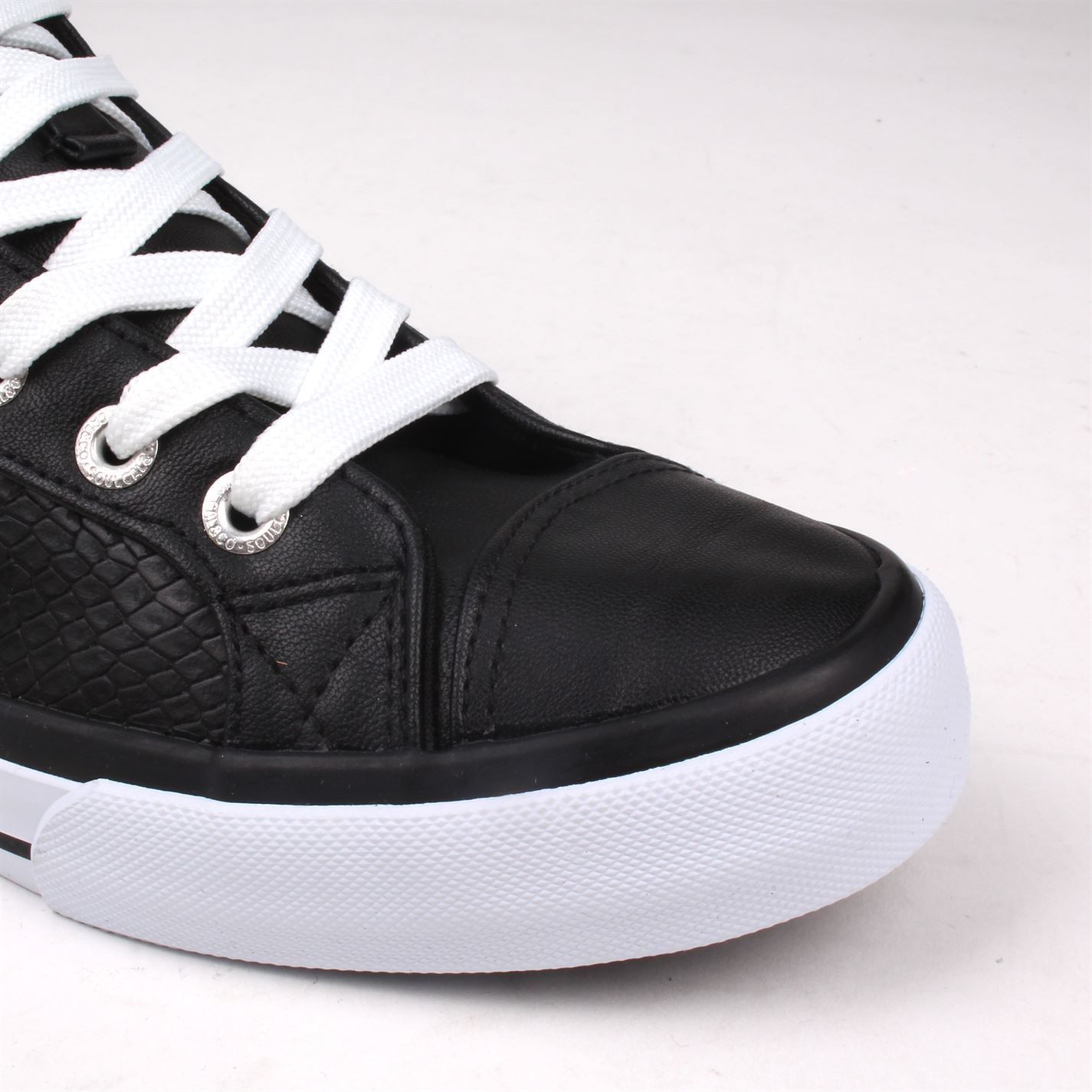 561a1a0a204 Details about SoulCal Asti Hi Tops Trainers PU Womens