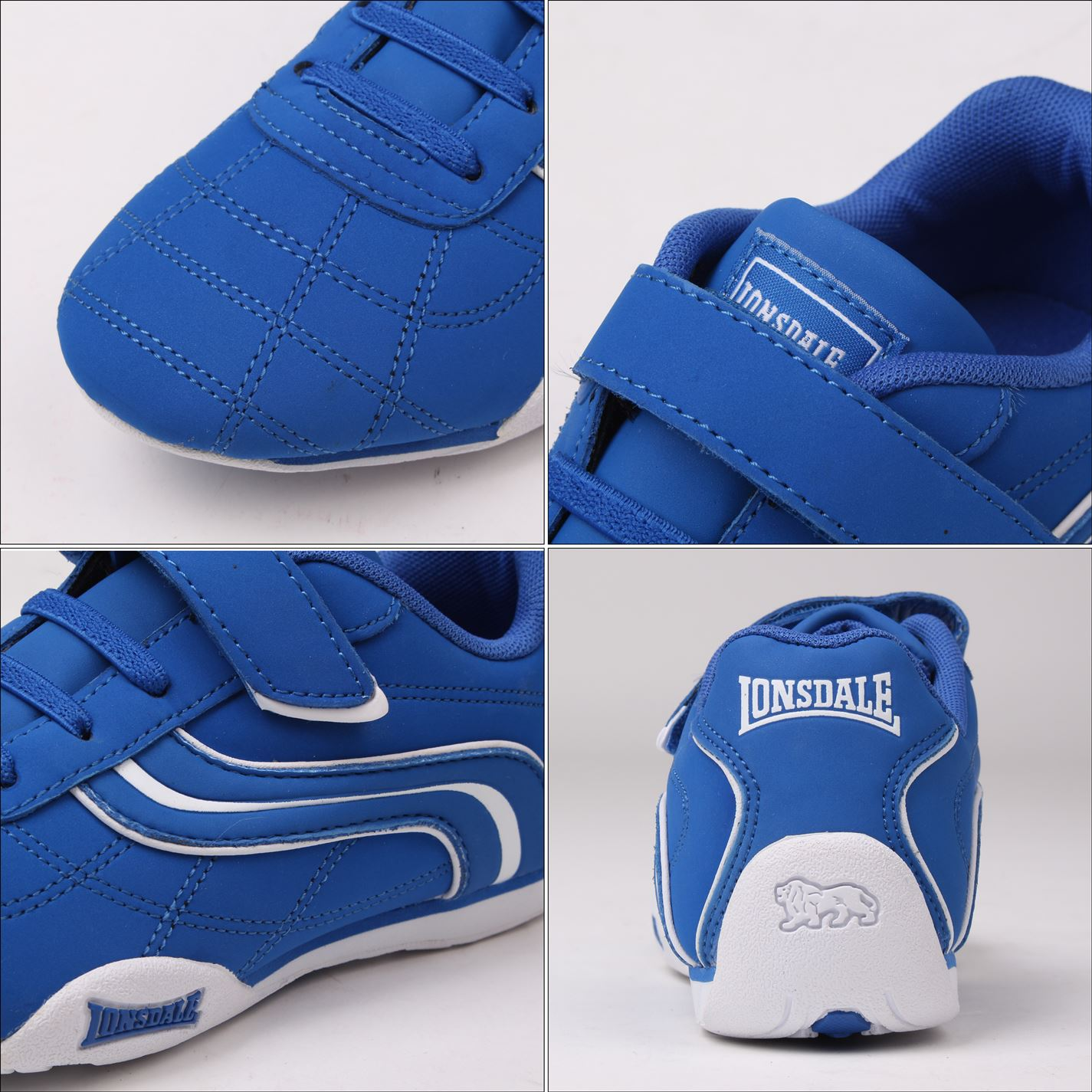 Lonsdale-Kids-Camden-Child-Boys-Trainers-Lace-Up-Casual-Sports-Shoes-Footwear thumbnail 14