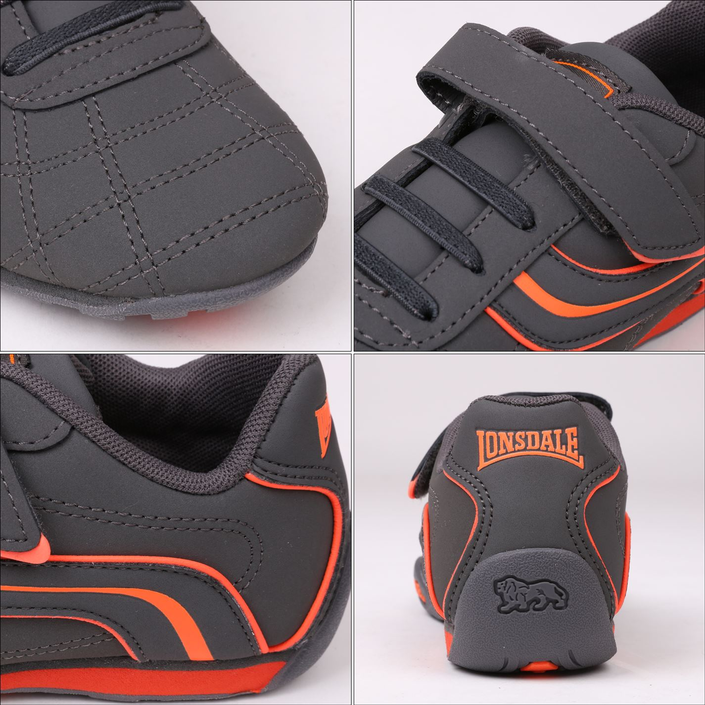 Lonsdale-Kids-Camden-Child-Boys-Trainers-Lace-Up-Casual-Sports-Shoes-Footwear thumbnail 20