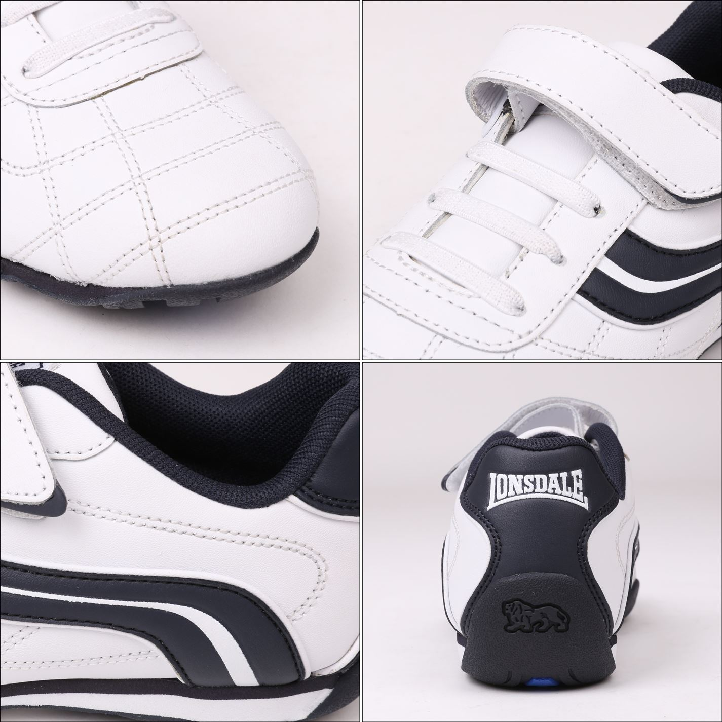 Lonsdale-Kids-Camden-Child-Boys-Trainers-Lace-Up-Casual-Sports-Shoes-Footwear thumbnail 37